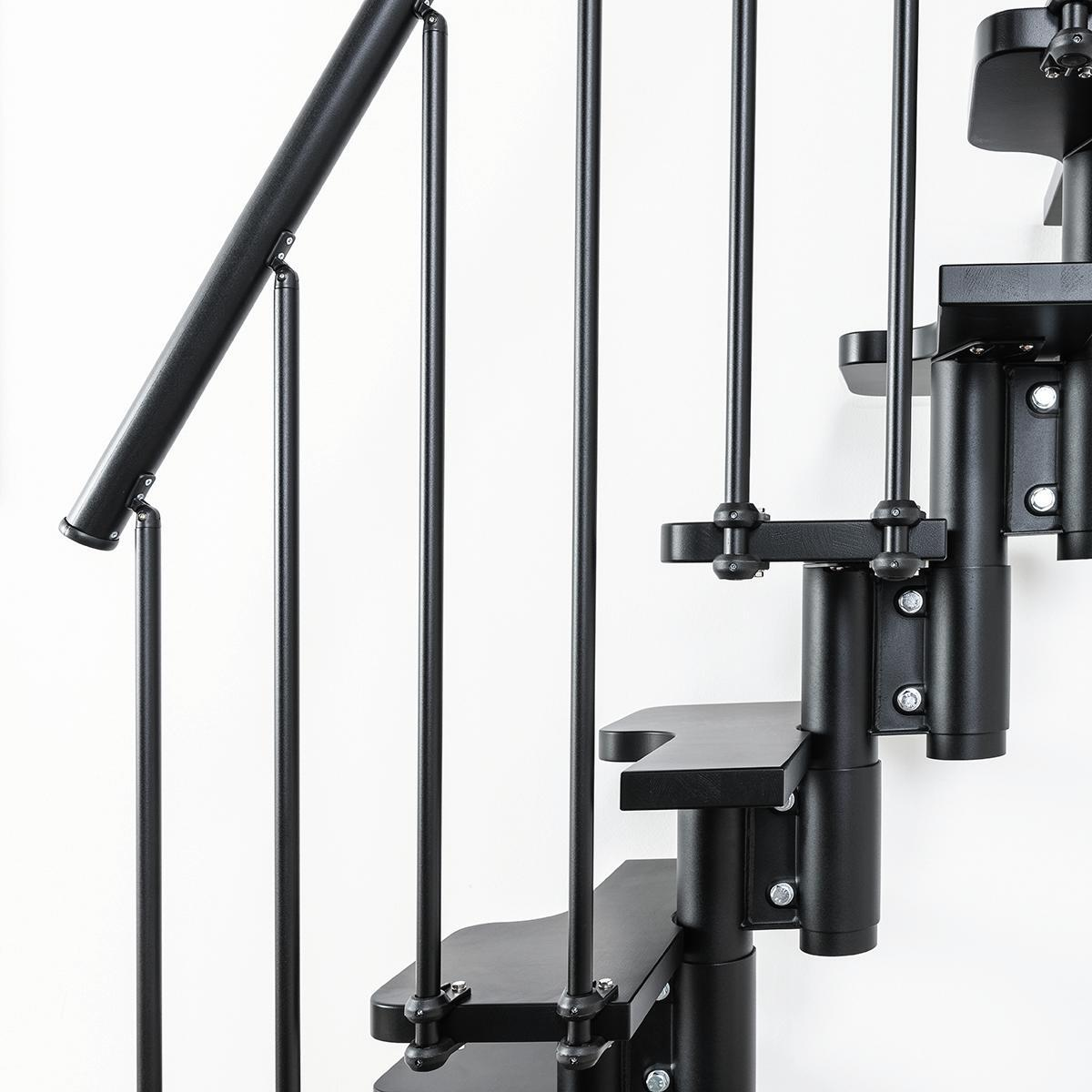 Scala salvaspazio dritto Lindy FONTANOT L 54 cm, gradino nero, struttura nero - 4