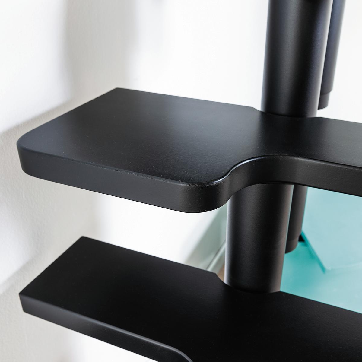 Scala salvaspazio dritto Lindy FONTANOT L 54 cm, gradino nero, struttura nero - 2