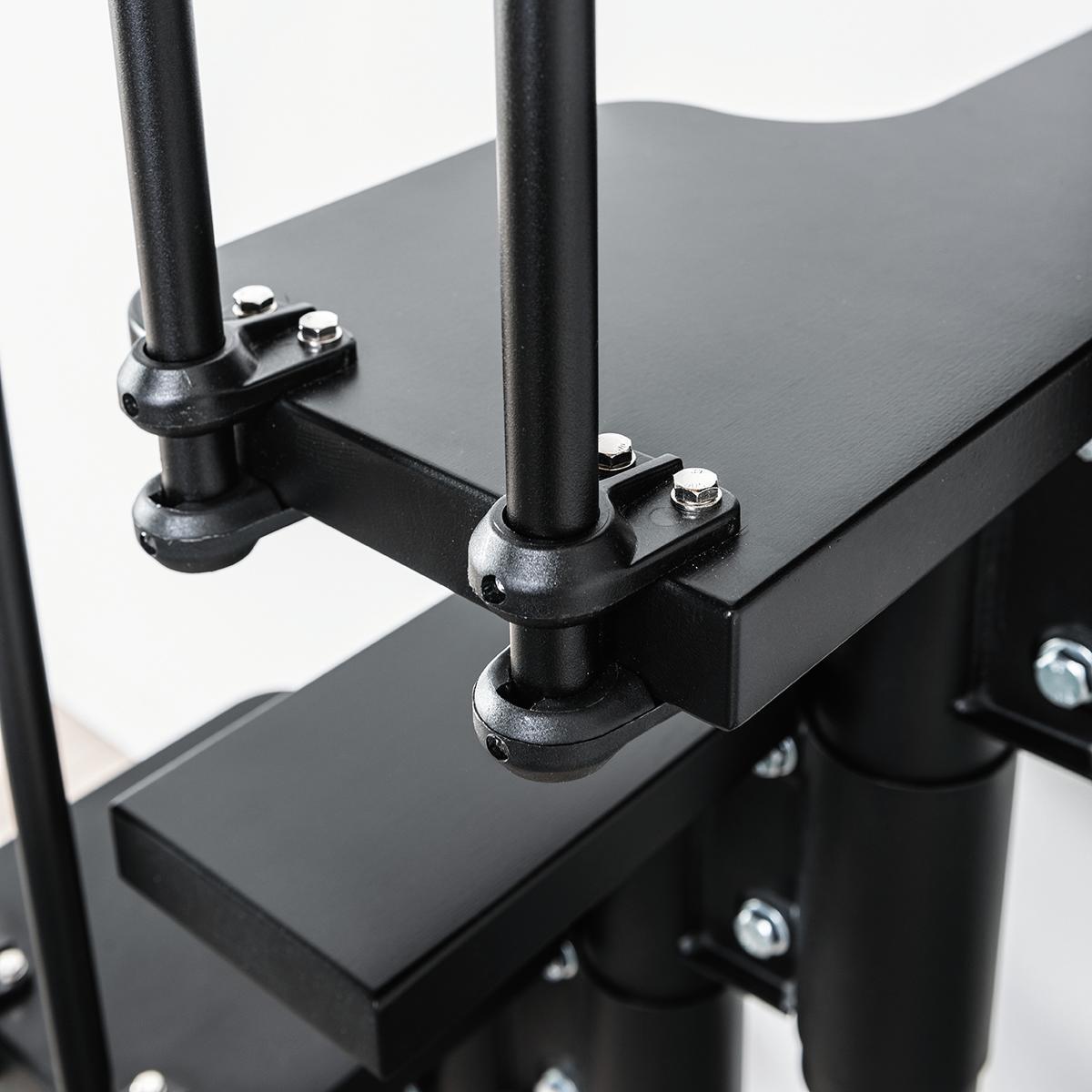 Scala salvaspazio dritto Lindy FONTANOT L 54 cm, gradino nero, struttura nero - 5