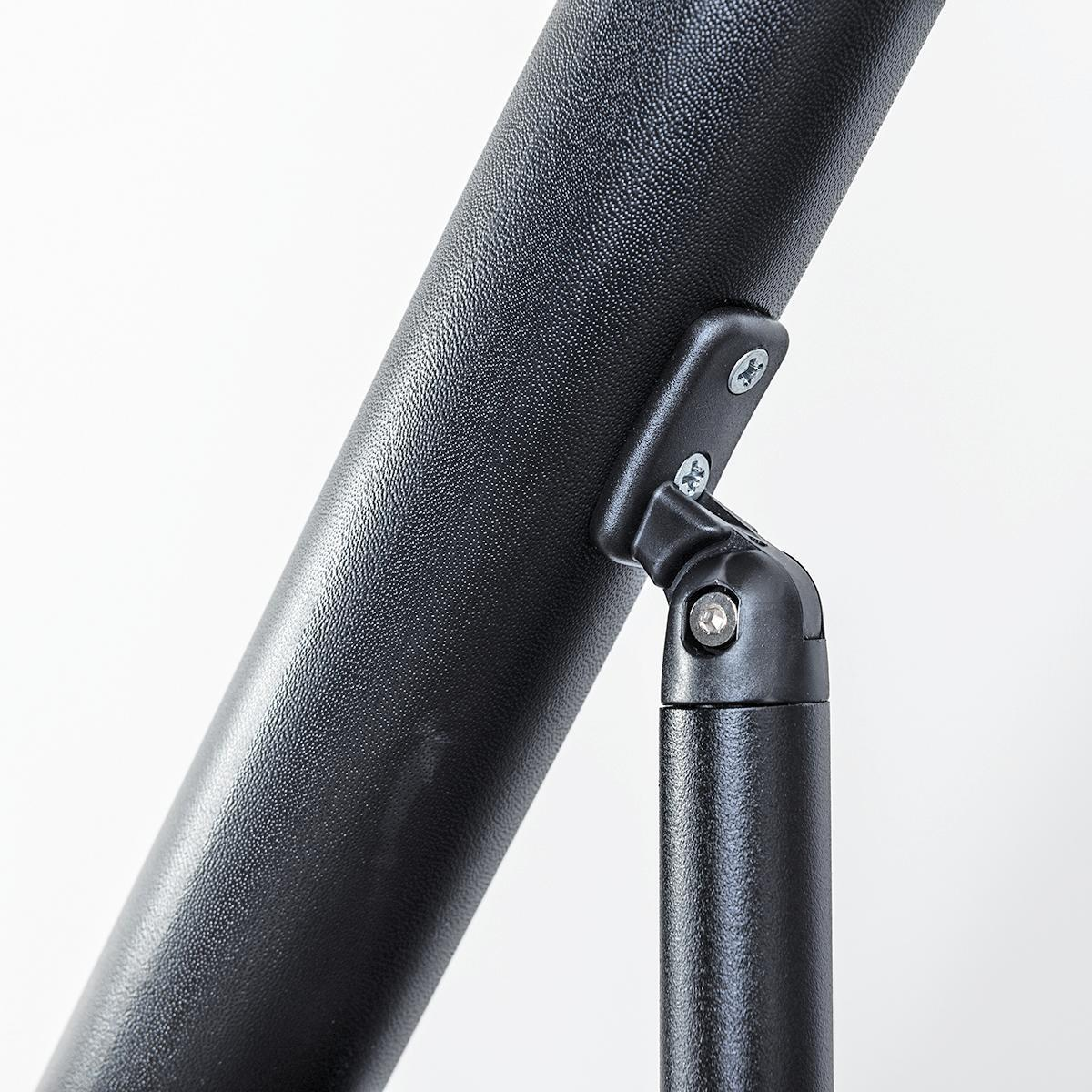 Scala salvaspazio dritto Lindy FONTANOT L 54 cm, gradino nero, struttura nero - 9