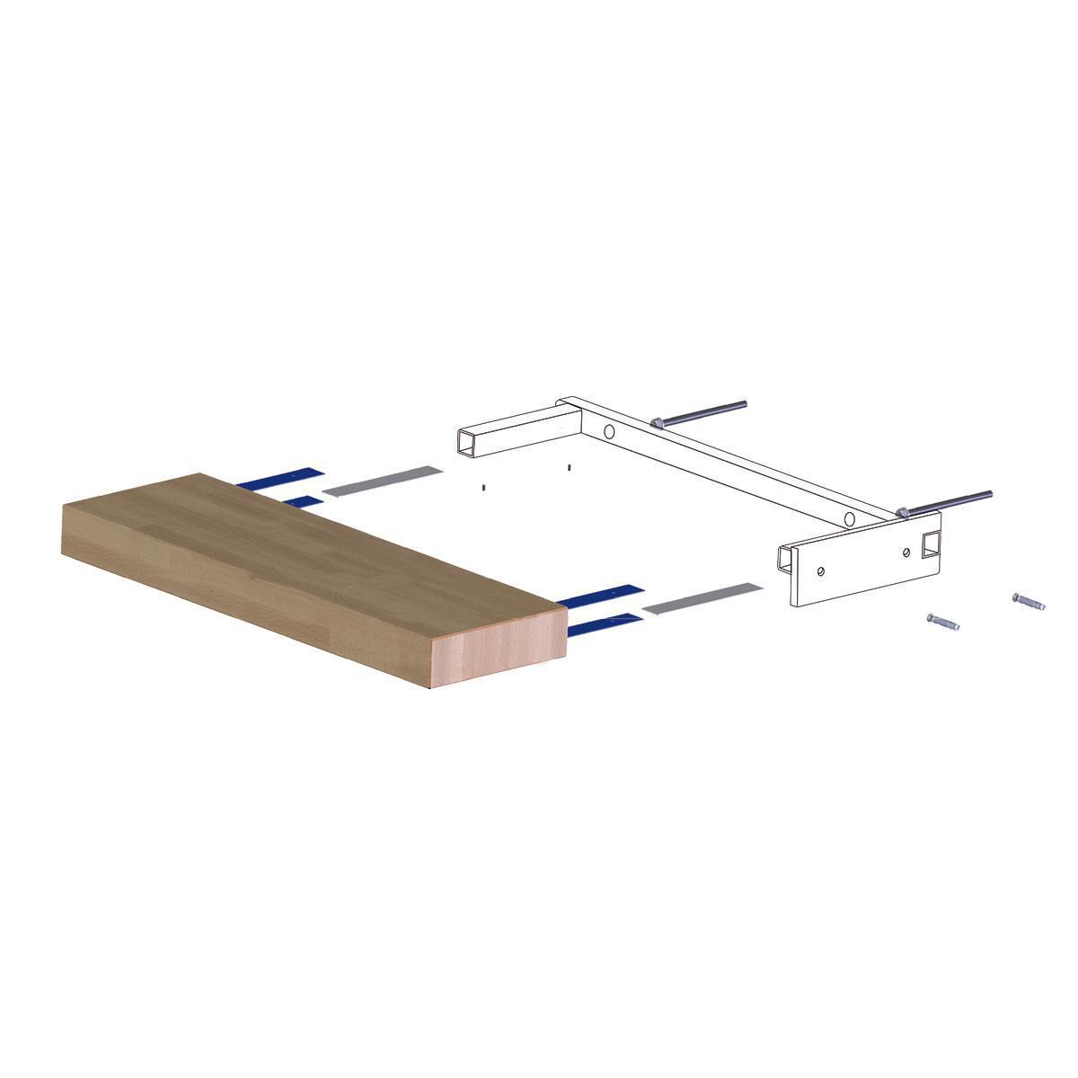 Gradino Wall Finale in legno bianco L 800 mm H 300 mm - 5