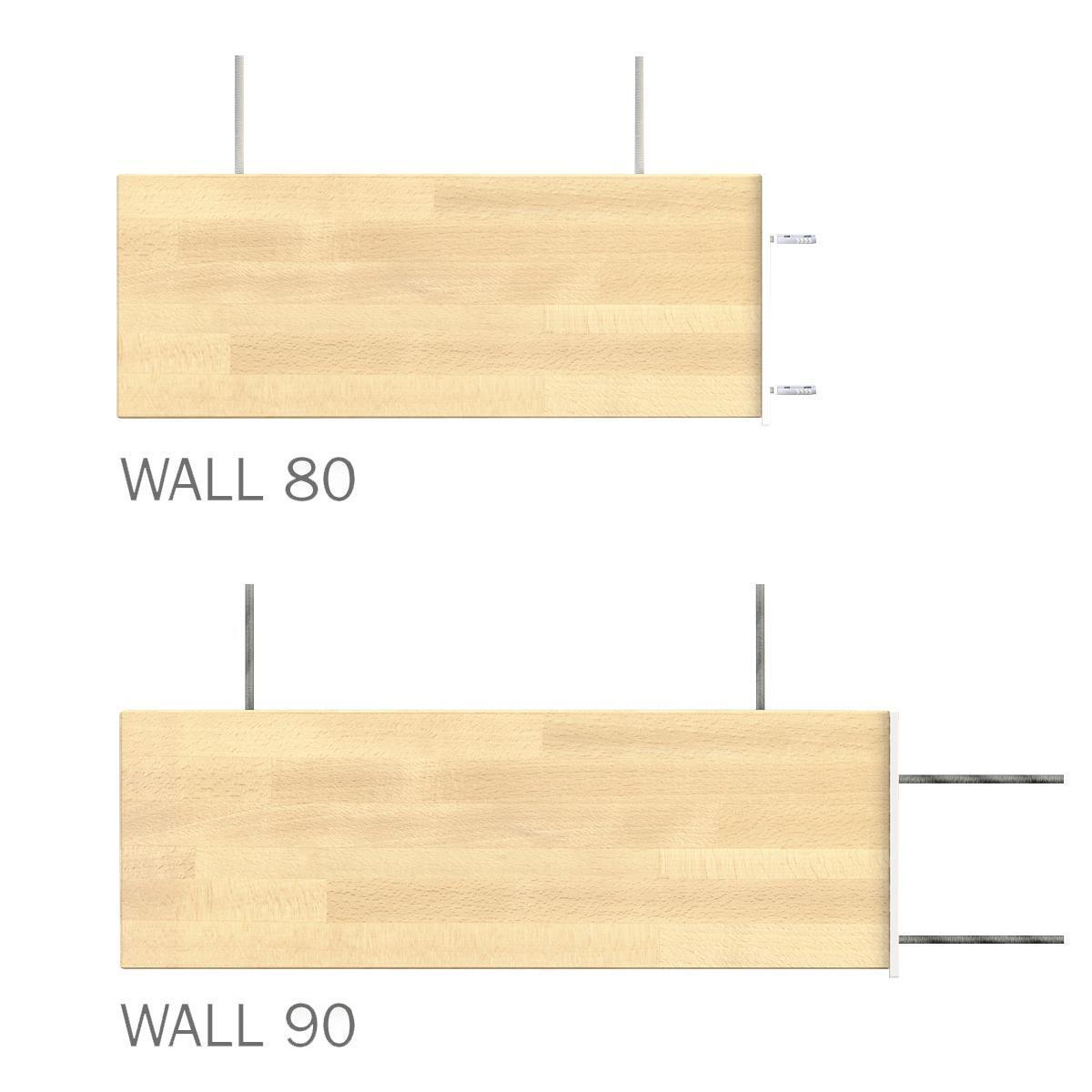 Gradino Wall Finale in legno bianco L 800 mm H 300 mm - 3