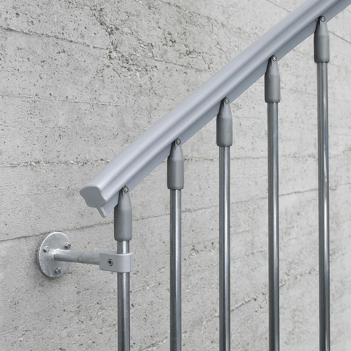Scala a chiocciola tonda Steel Zink FONTANOT L 140 cm, gradino grigio zincato, struttura grigio zincato - 4
