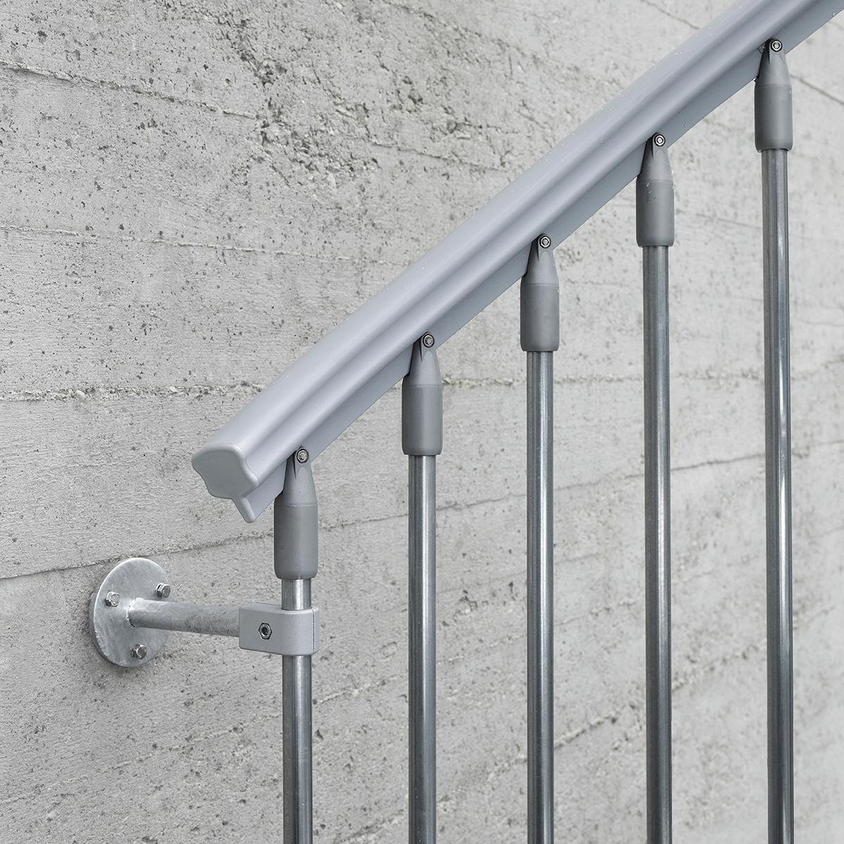 Scala a chiocciola tonda Steel Zink FONTANOT L 120 cm, gradino grigio zincato, struttura grigio zincato - 8