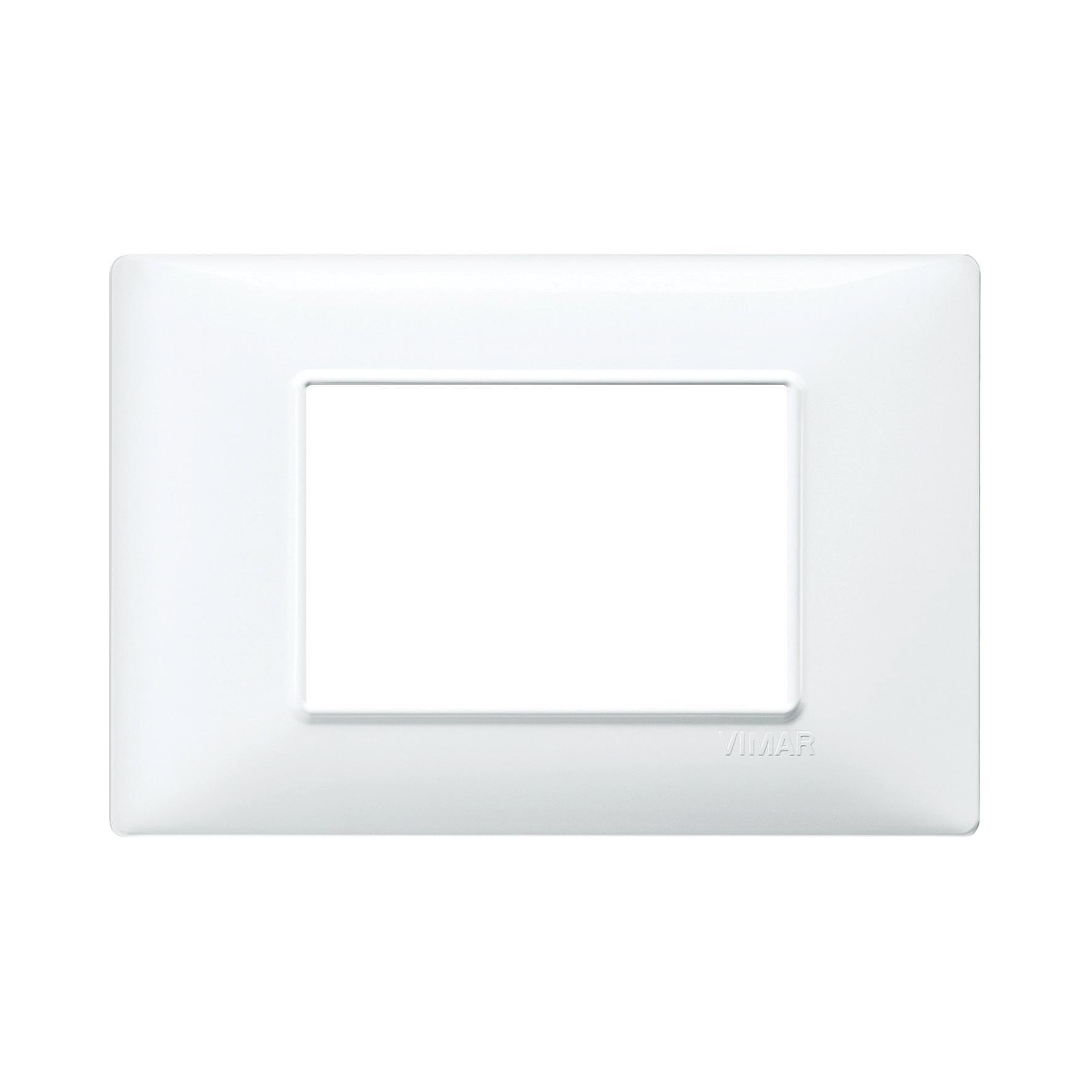 Placca Plana VIMAR 3 moduli bianco - 2