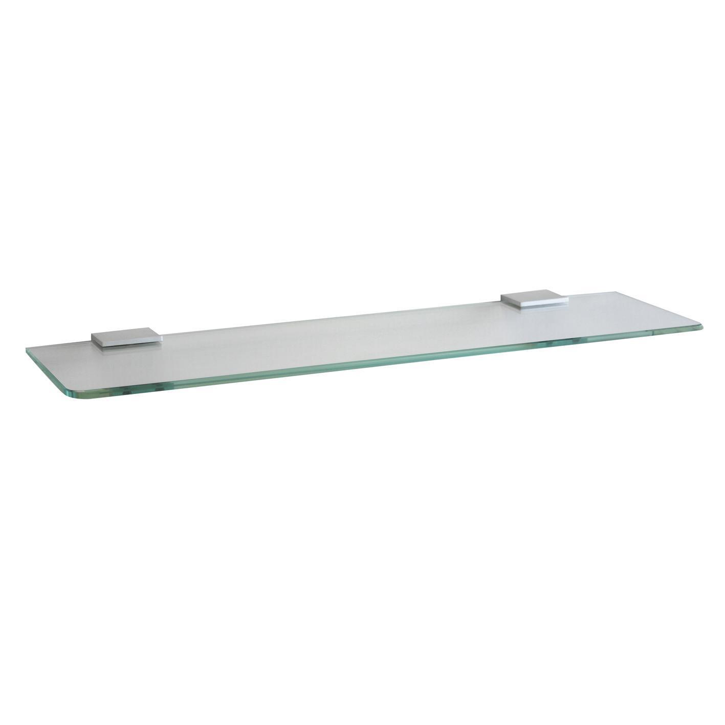 Mensola per bagno Ice L 45 cm trasparente