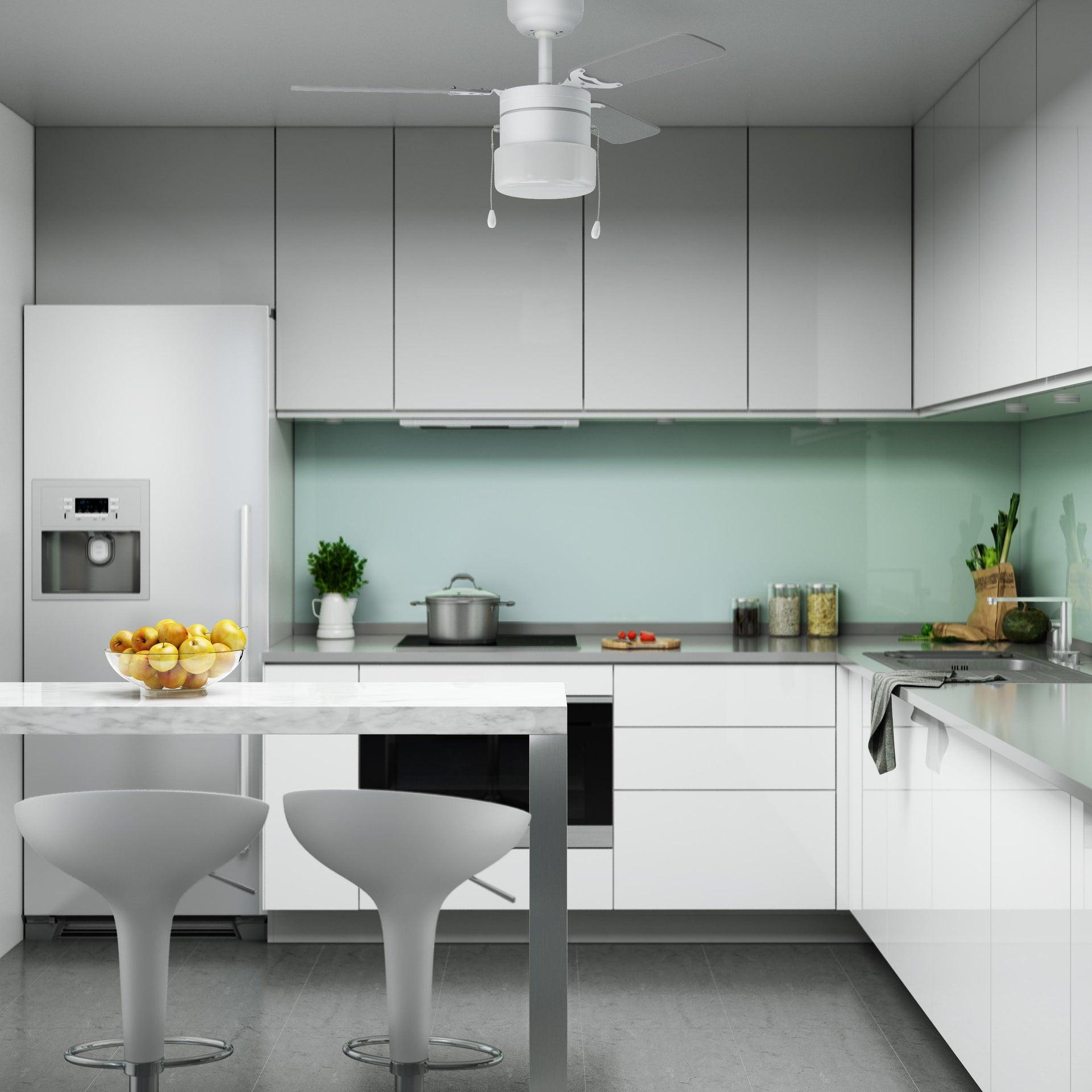 Ventilatore da soffitto Ana, grigio argento/bianco, D. 91 cm INSPIRE - 1