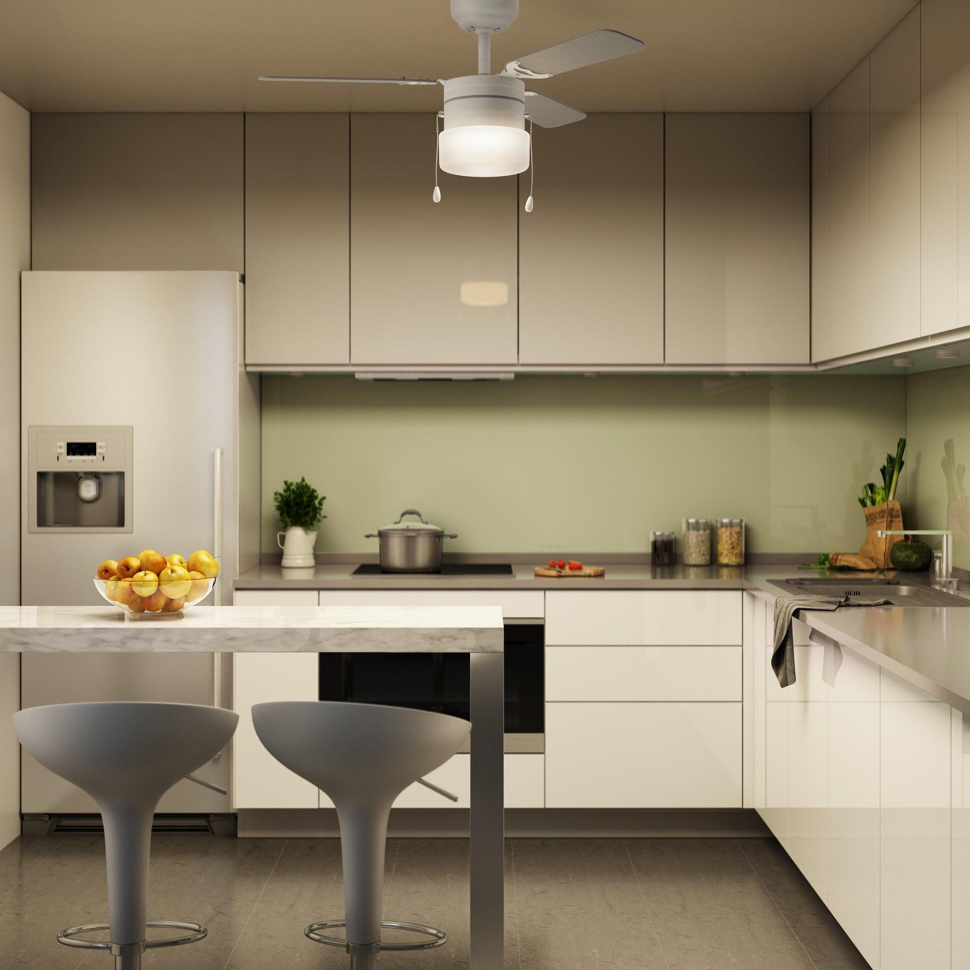 Ventilatore da soffitto Ana, grigio argento/bianco, D. 91 cm INSPIRE - 5