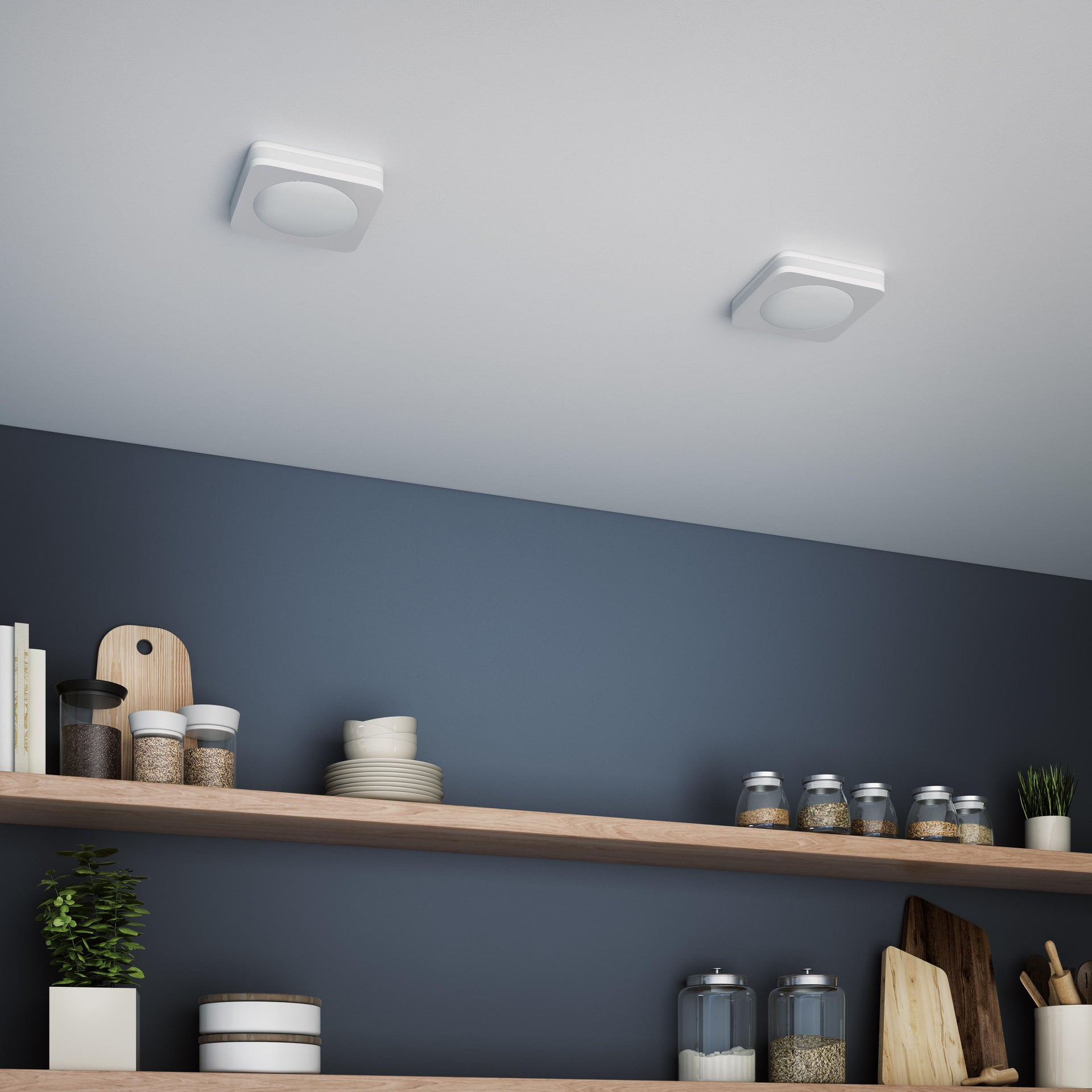 Faretto fisso da incasso quadrato Albina in Alluminio bianco, 8x8cm Diodi LED integrati 6W IP20 INSPIRE - 3