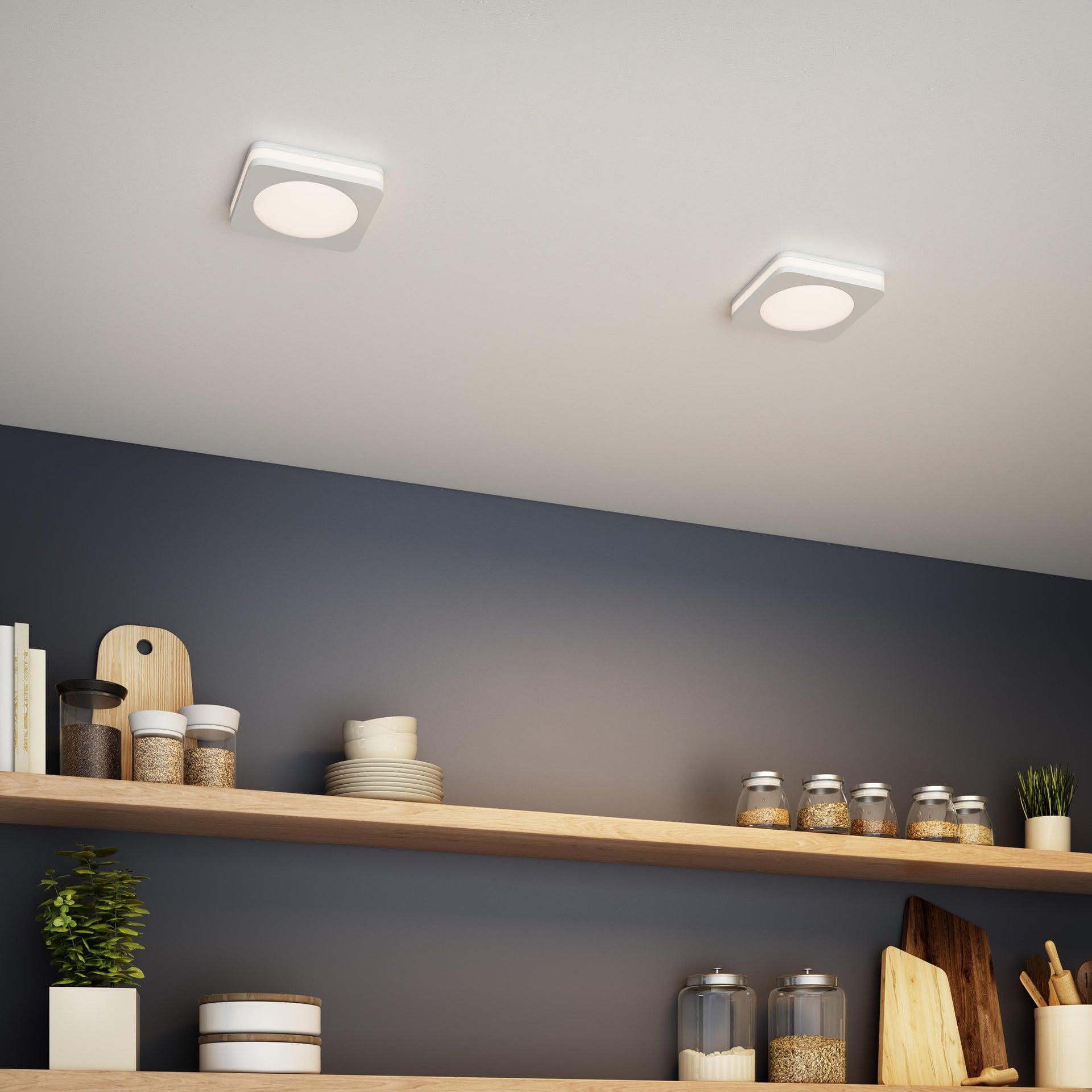 Faretto fisso da incasso quadrato Albina in Alluminio bianco, 8x8cm Diodi LED integrati 6W IP20 INSPIRE - 4