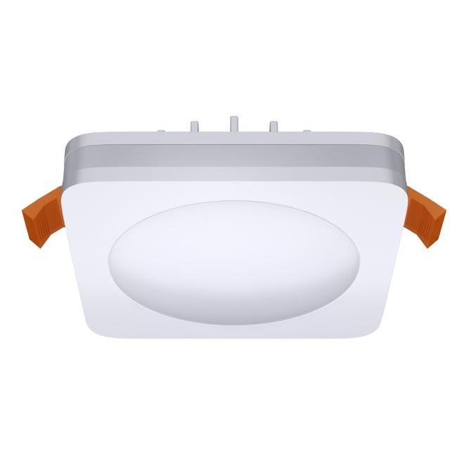 Faretto fisso da incasso quadrato Albina in Alluminio bianco, 8x8cm Diodi LED integrati 6W IP20 INSPIRE - 1