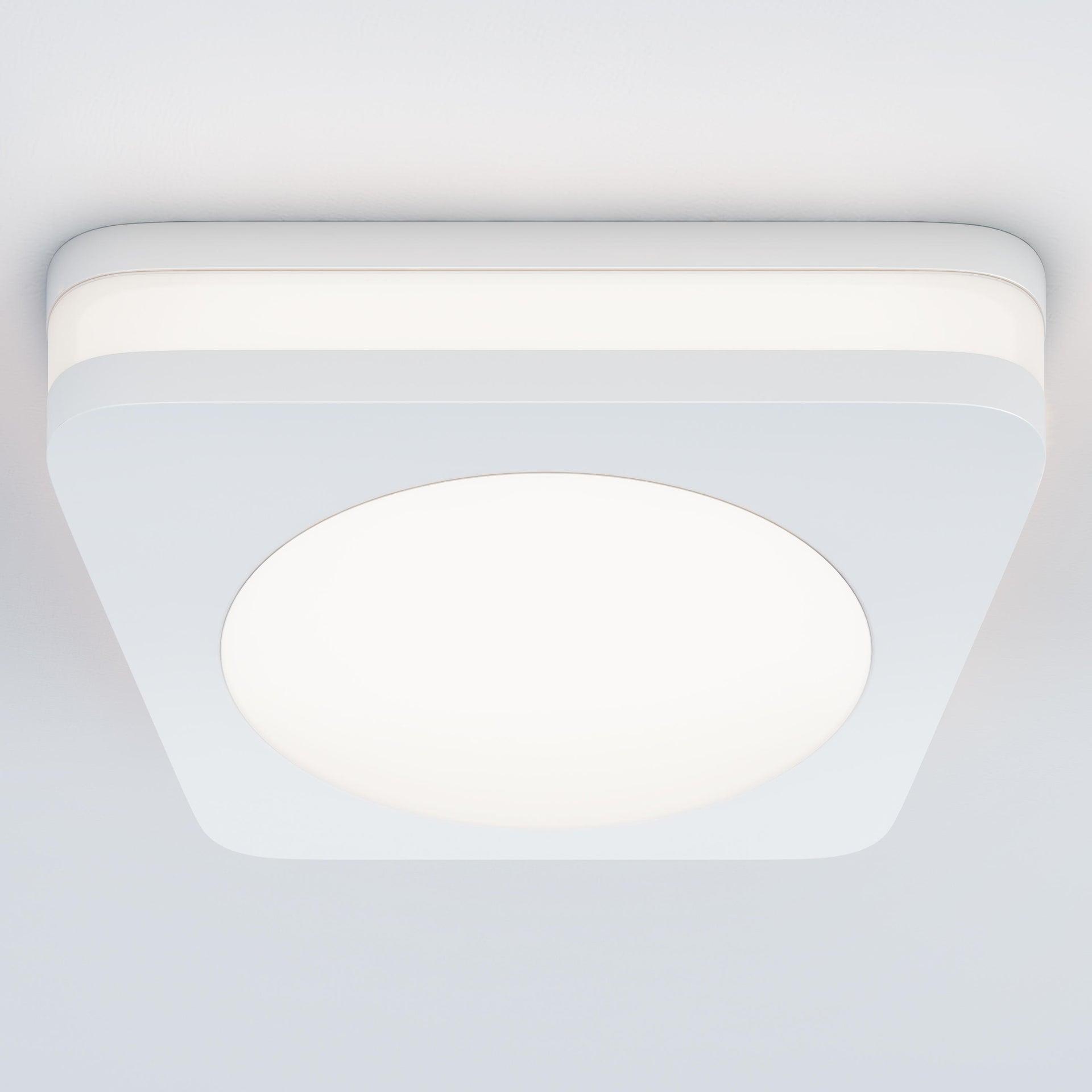 Faretto fisso da incasso quadrato Albina in Alluminio bianco, 8x8cm Diodi LED integrati 6W IP20 INSPIRE - 5