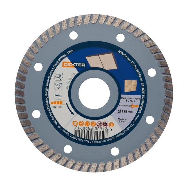 Disco diamantato con corona continua turbo DEXTER Ø 115 mm - 1