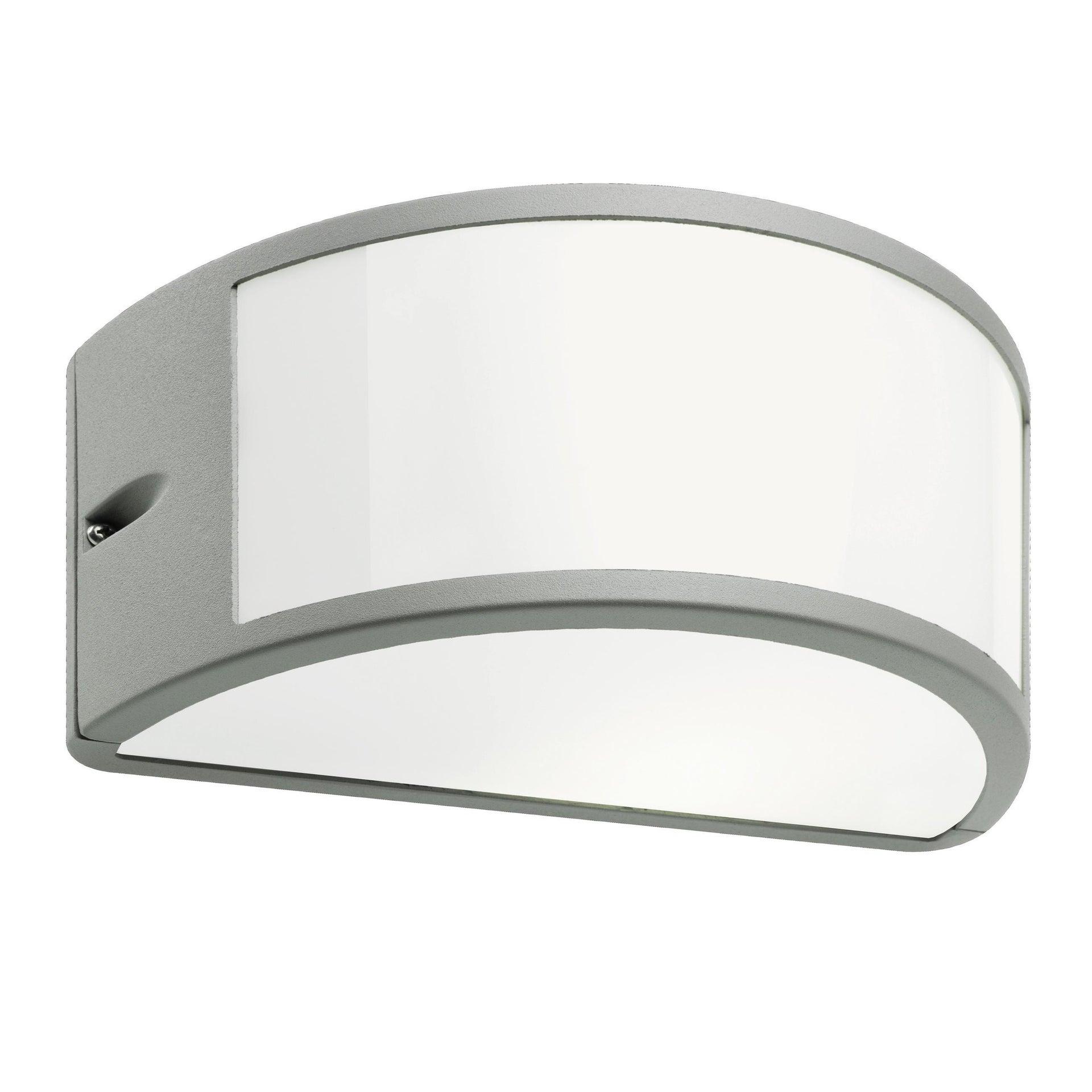 Applique Umbe in alluminio, bianco e grigio, E27 MAX60W IP54 - 2