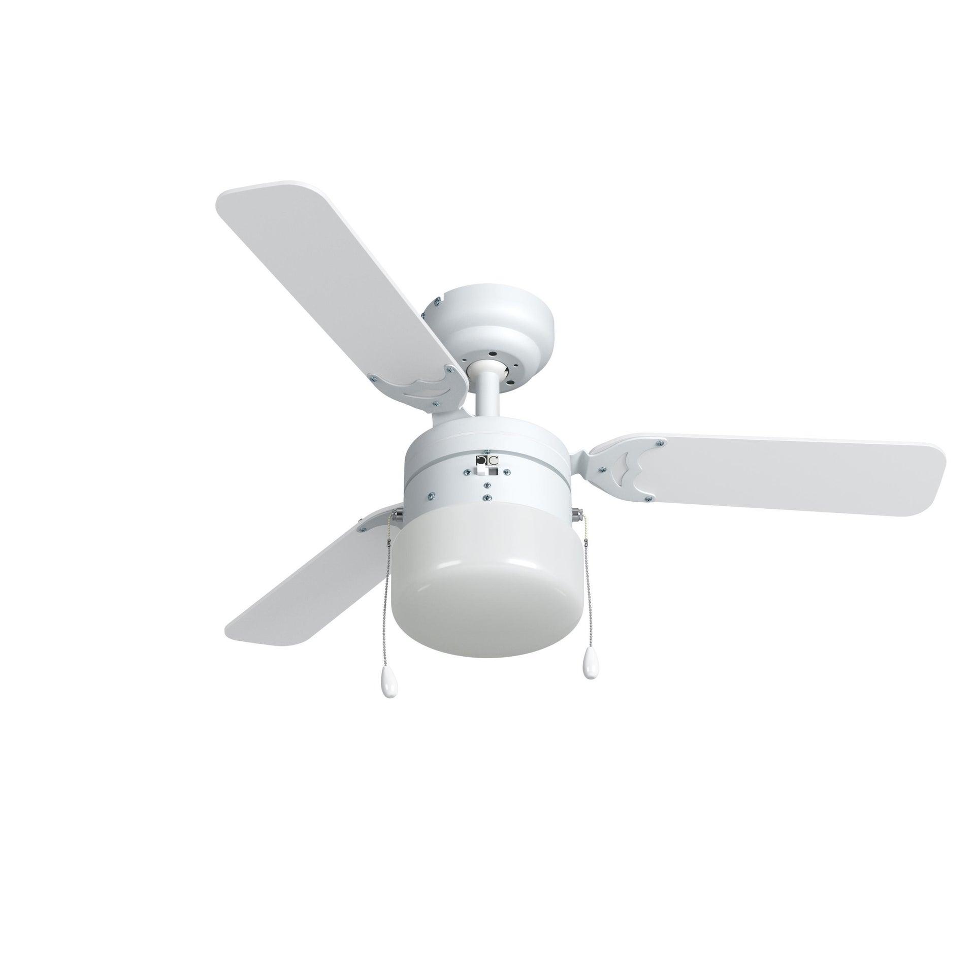 Ventilatore da soffitto Ana, grigio argento/bianco, D. 91 cm INSPIRE - 2