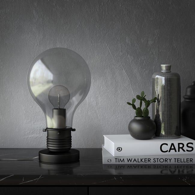 Lampada da tavolo Moderno Bombilla nero , in vetro, INSPIRE - 1