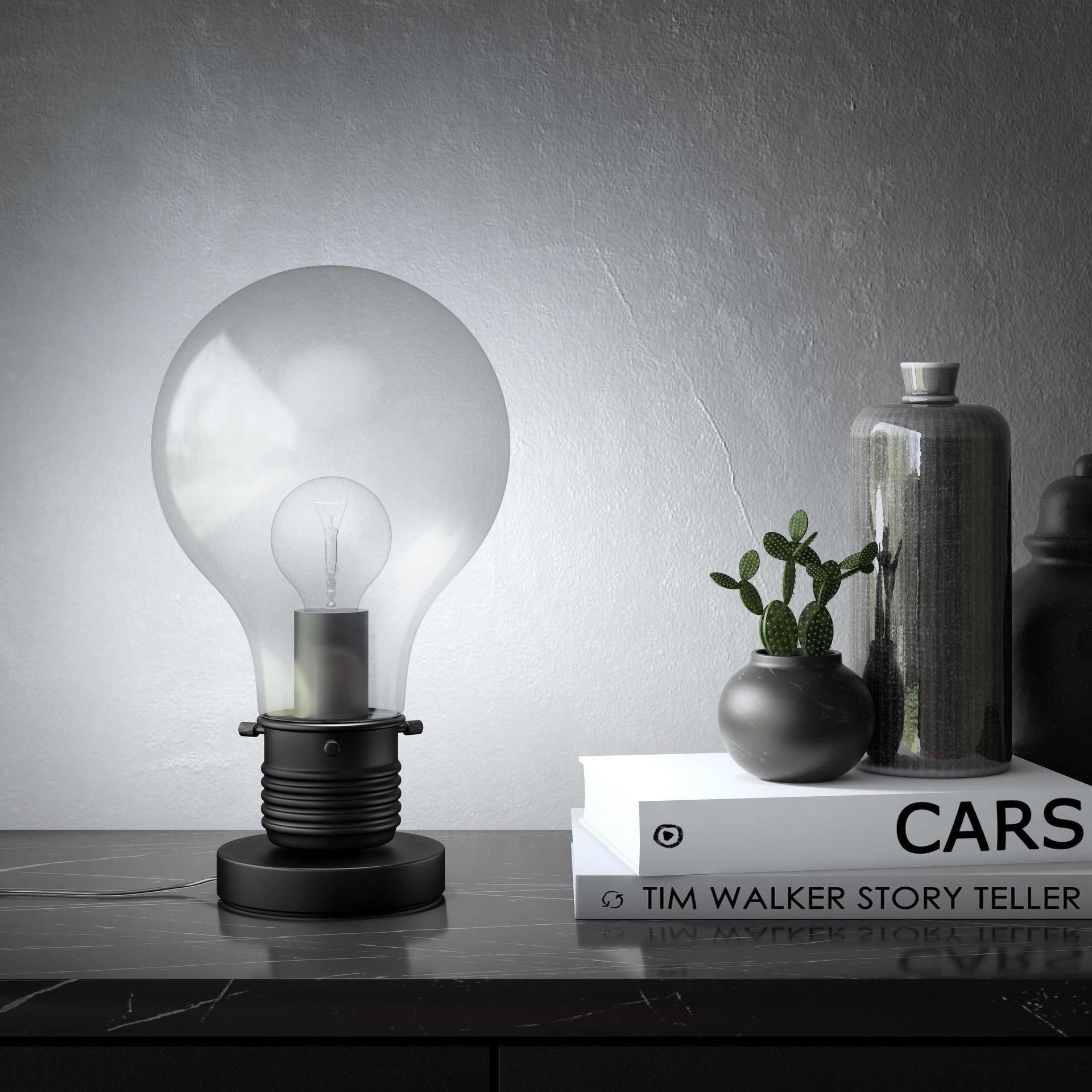 Lampada da tavolo Moderno Bombilla nero , in vetro, INSPIRE - 4