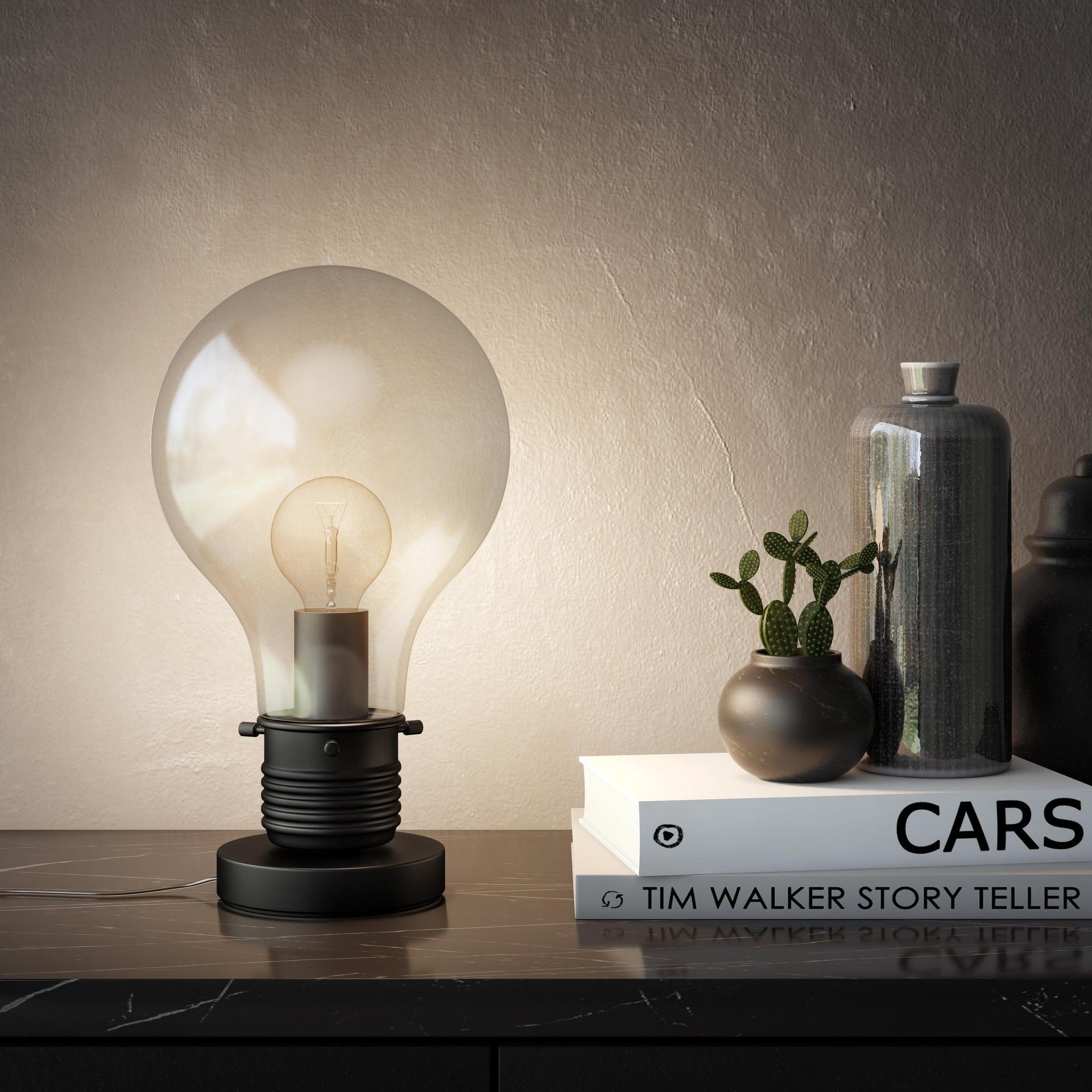 Lampada da tavolo Moderno Bombilla nero , in vetro, INSPIRE - 8