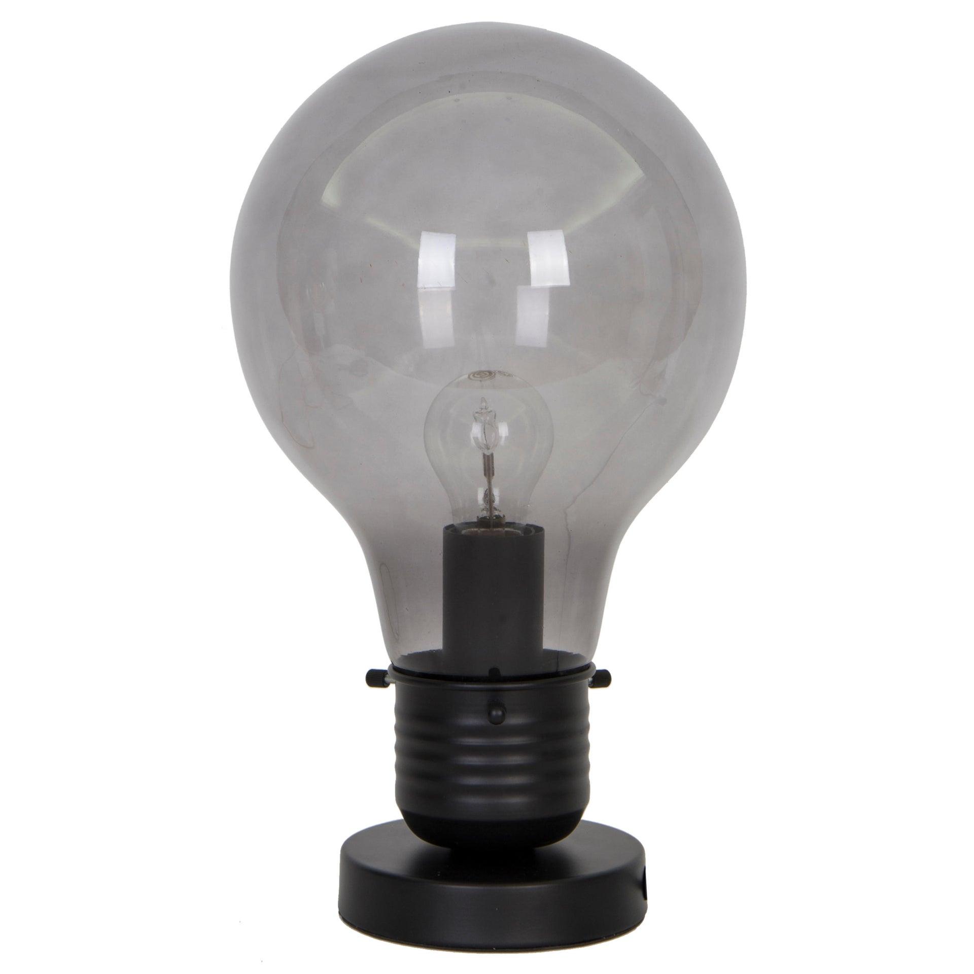 Lampada da tavolo Moderno Bombilla nero , in vetro, INSPIRE - 3