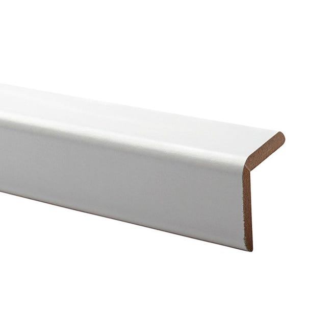 Paraspigolo in mdf bianco 3 m x 28 mm, Sp 28 mm - 1