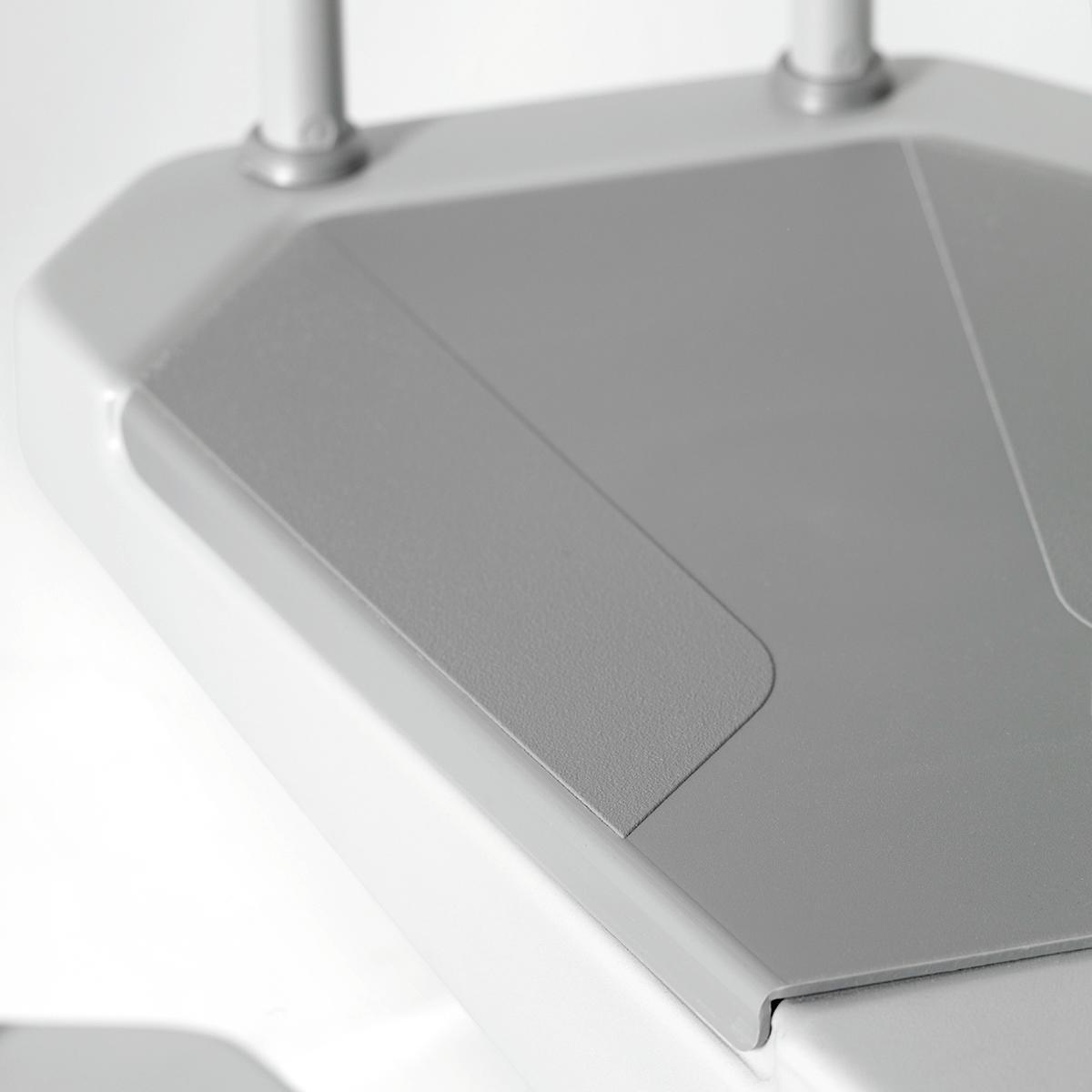 Scala a chiocciola tonda Snail FONTANOT L 120 cm, gradino grigio, struttura grigio - 3
