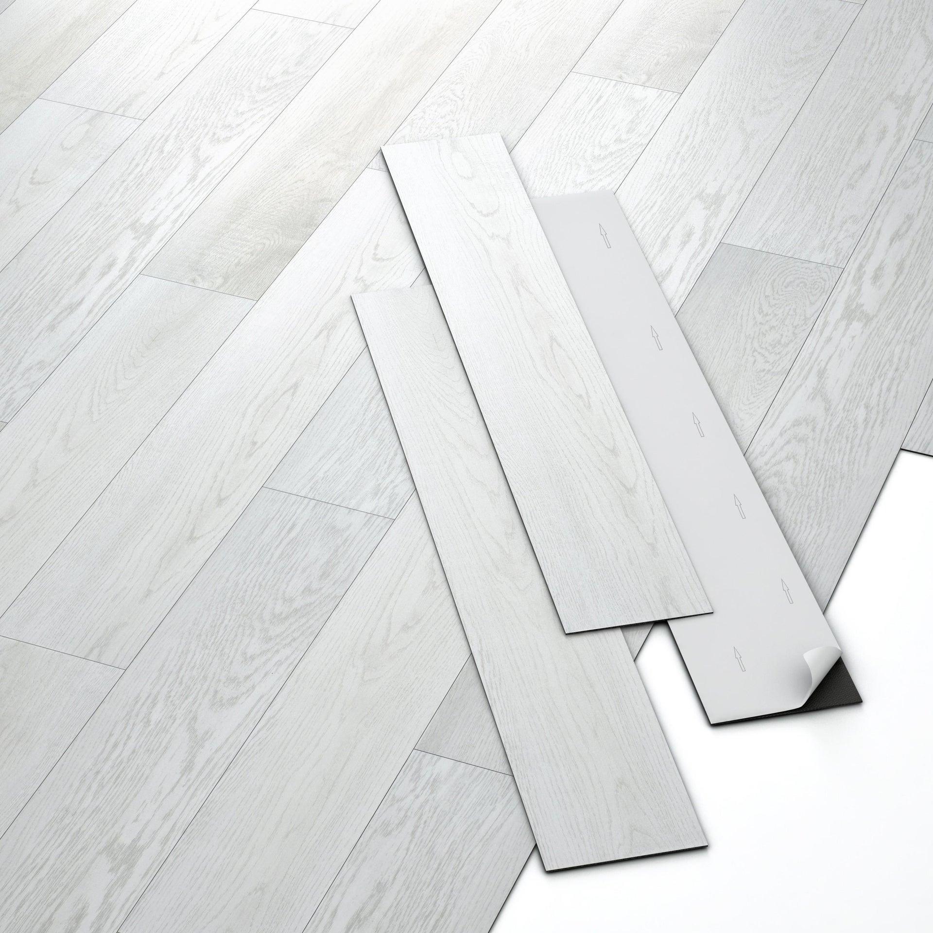Pavimento PVC adesivo Rough Sp 2 mm bianco - 3