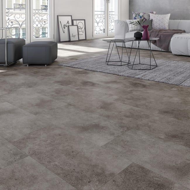 Pavimento PVC flottante clic+ Beton Sp 5 mm grigio / argento - 1