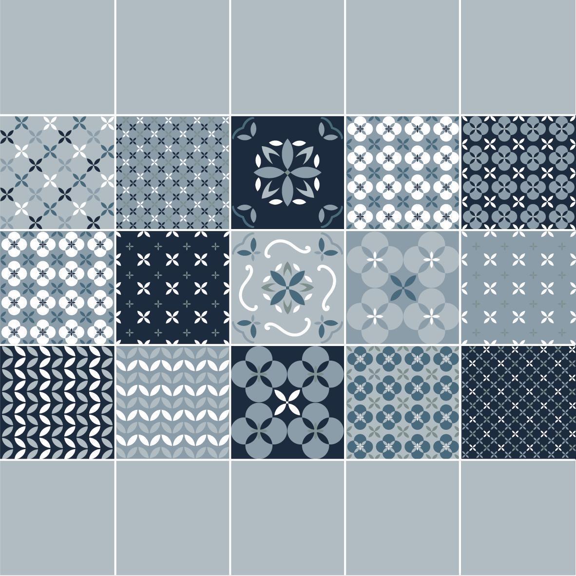 Piastrella Locarno 20 x 20 cm sp. 10 mm PEI 3/5 blu - 17