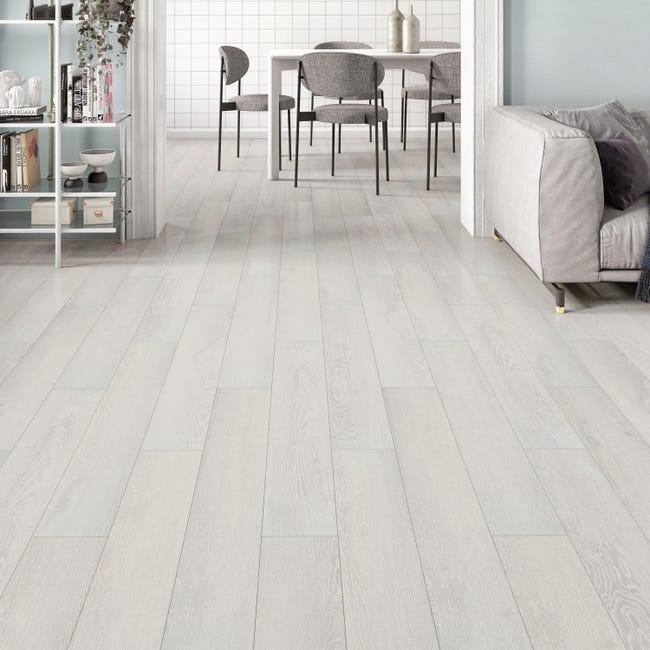 Pavimento PVC flottante clic+ Pure Sp 4.2 mm bianco - 1