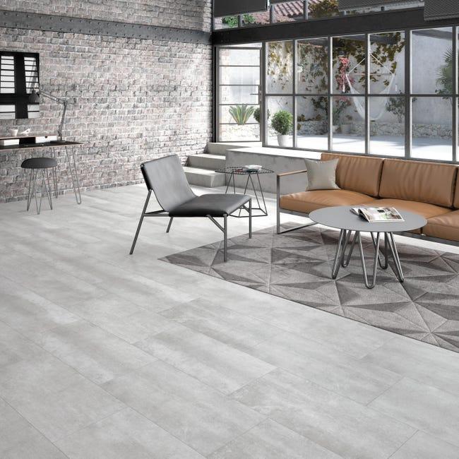 Pavimento PVC adesivo Concrete Sp 1.5 mm grigio / argento - 1