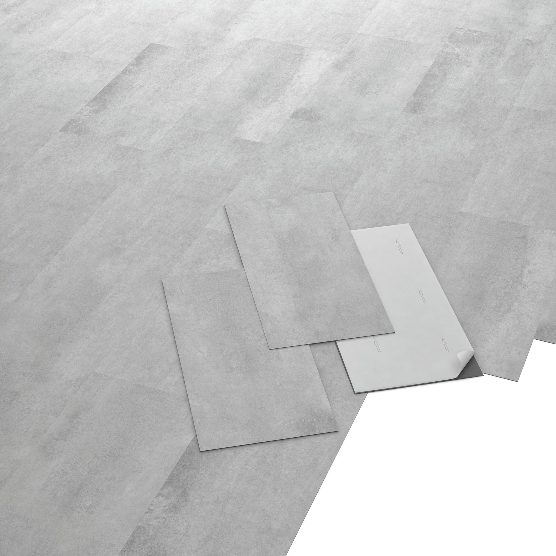 Pavimento PVC adesivo Concrete Sp 1.5 mm grigio / argento - 3
