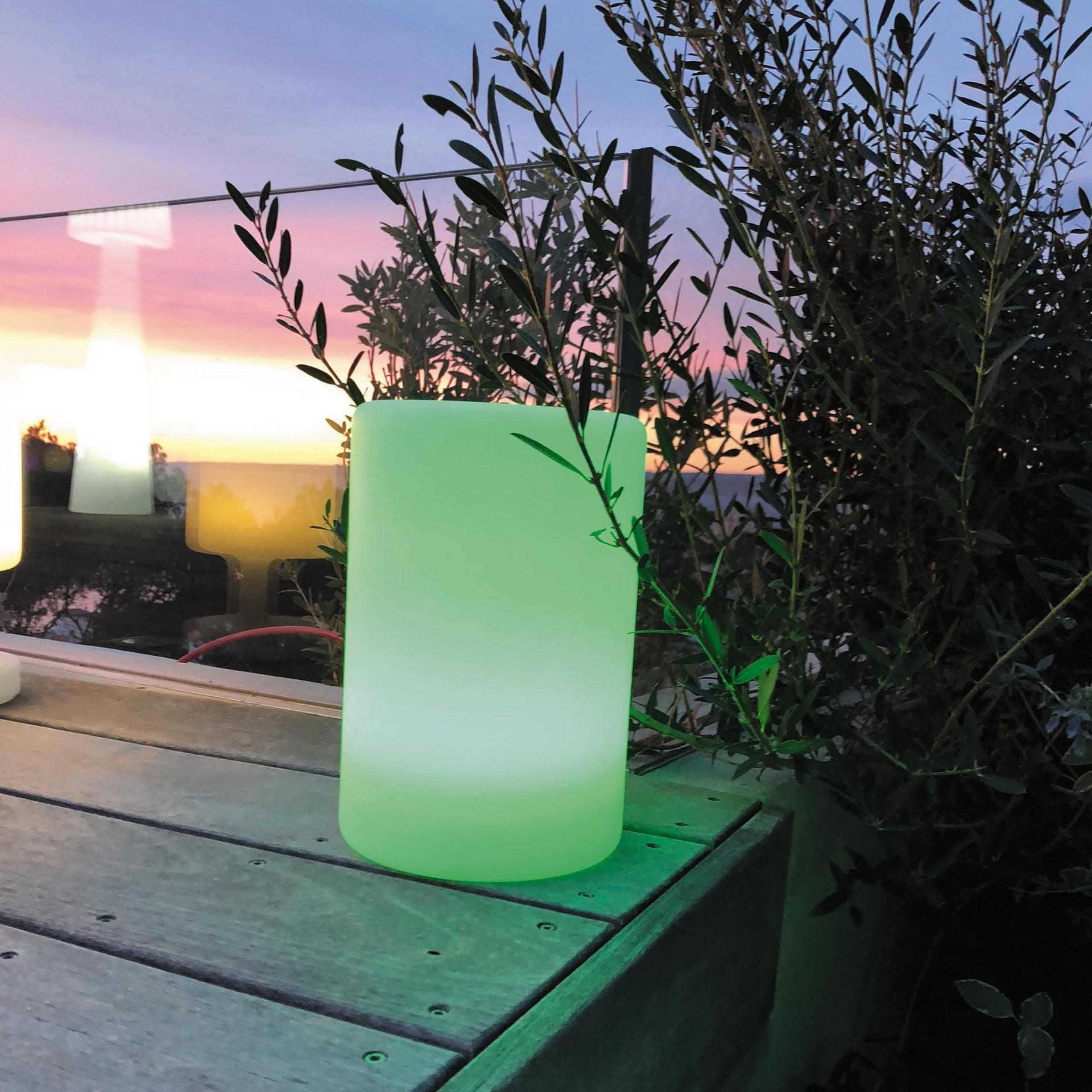 Lampada da esterno Alty H 24 cm, in resina, luce colori cangianti, LED integrato IP67 - 1