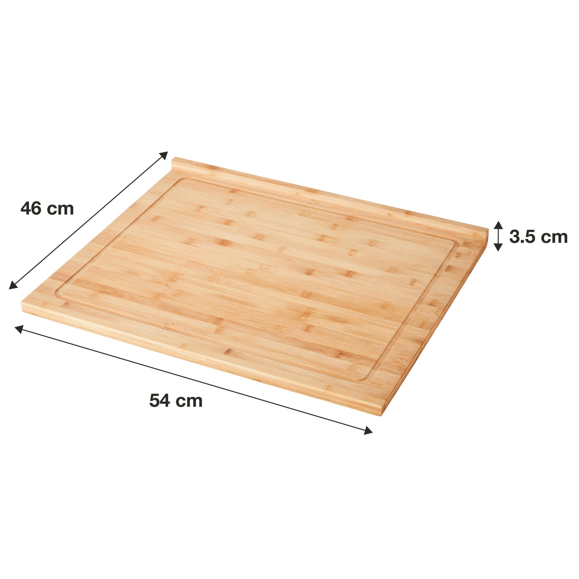 Tagliere in bambù naturale L 54 x P 46 cm DELINIA - 2