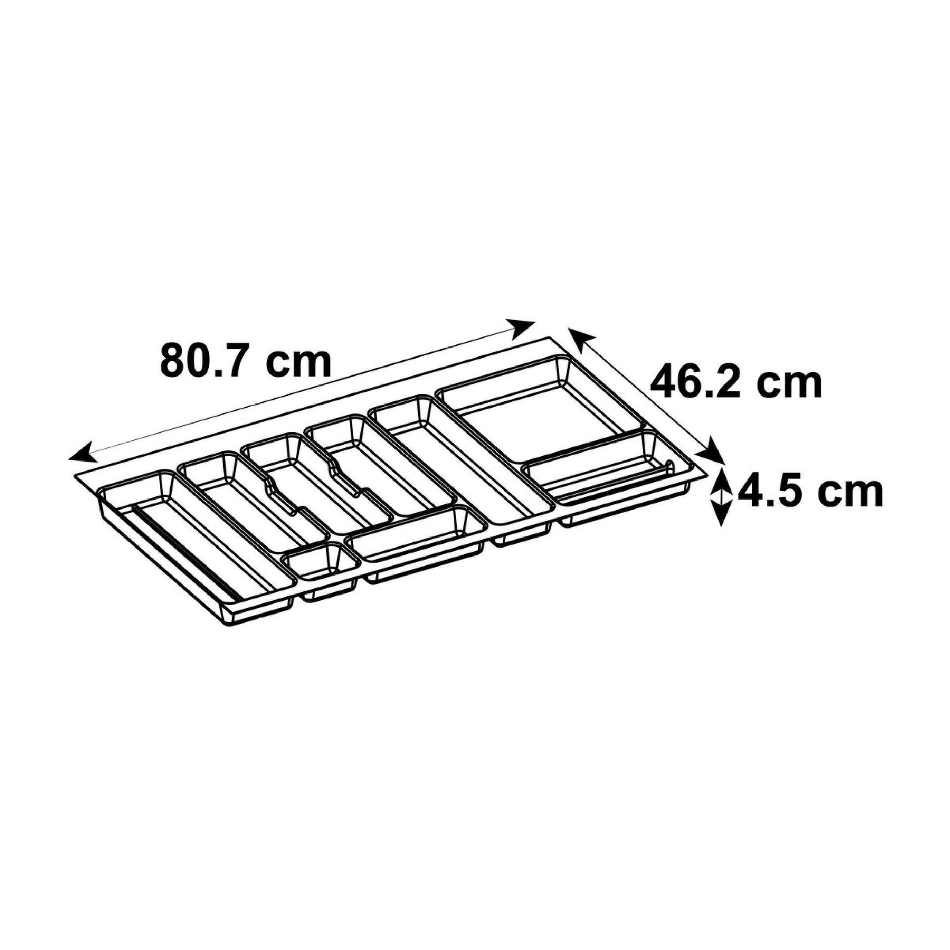 Portaposate L 79.8 x P 79.8 x H 79.8 cm grigio - 4