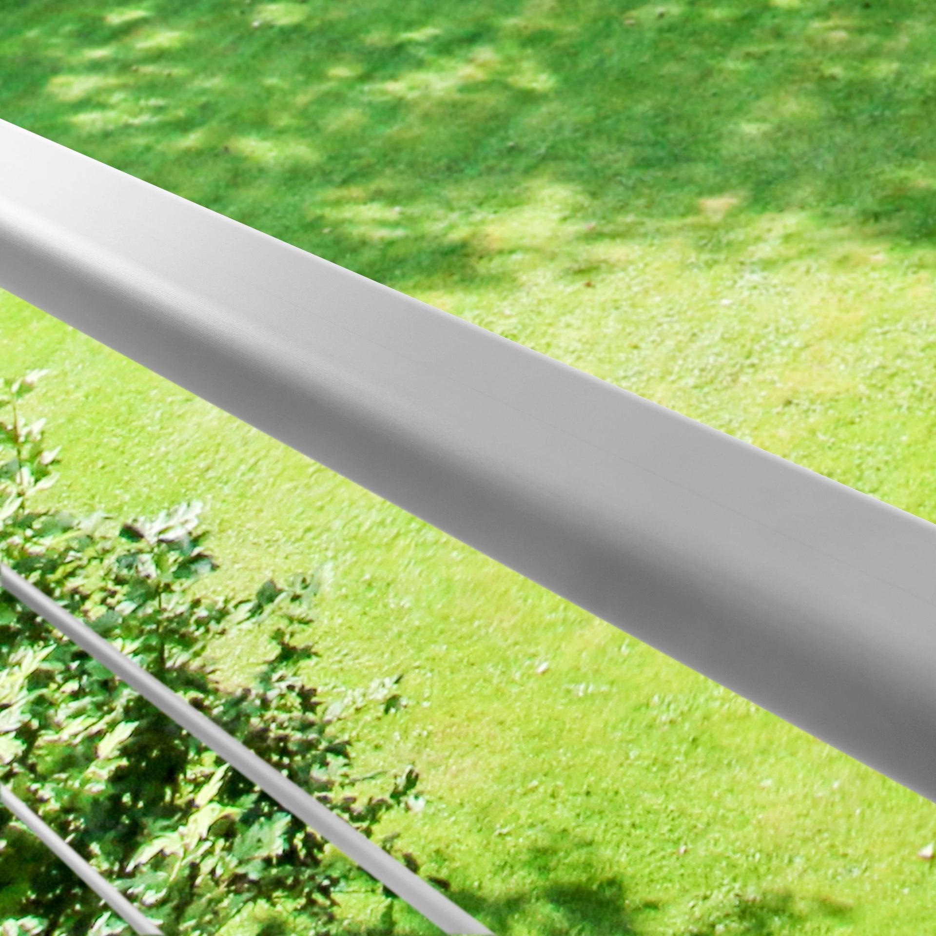 Balaustra ARTENS in alluminio L 200 x H 100 cm grigio - 9