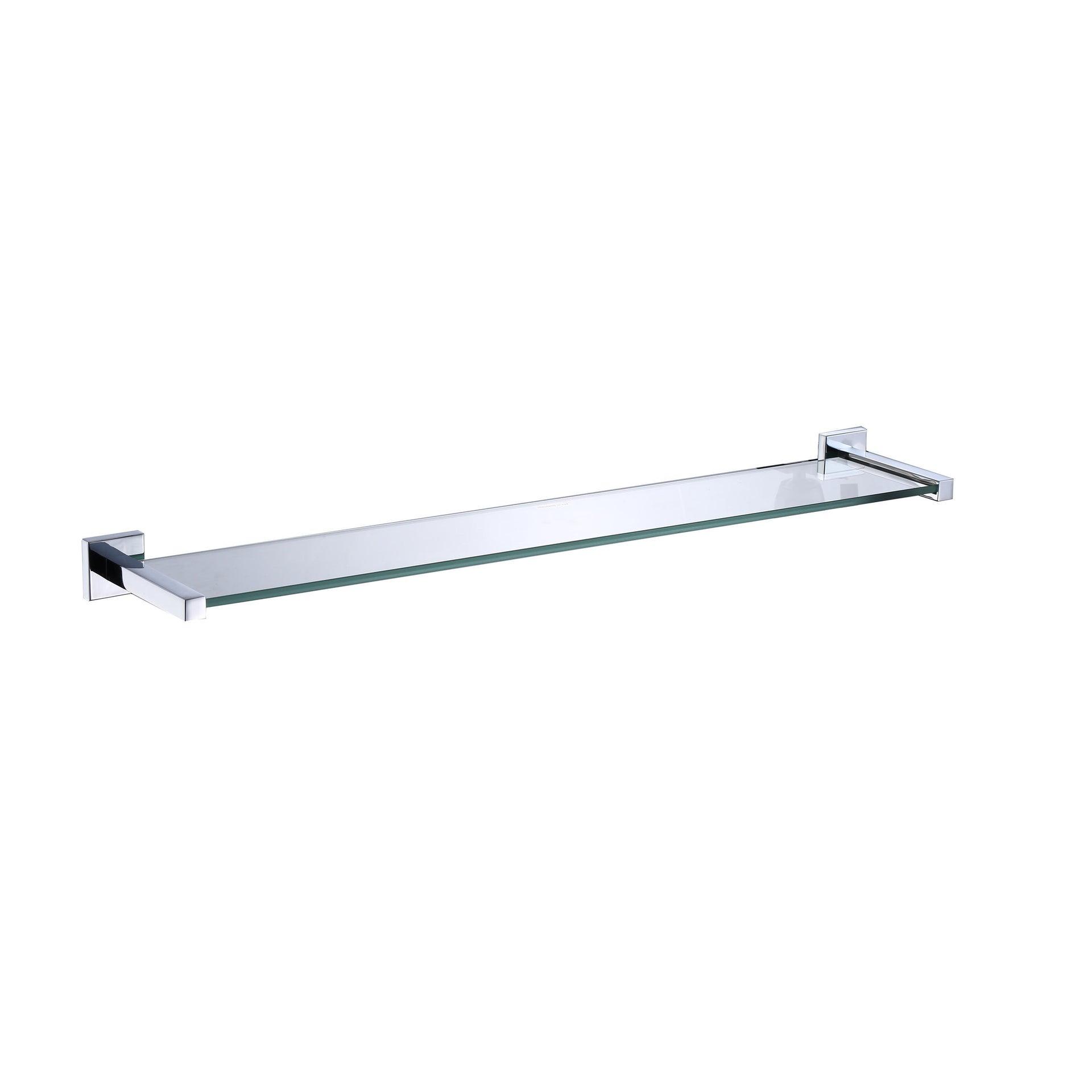 Mensola per bagno Quaddro L 64 cm trasparente - 1