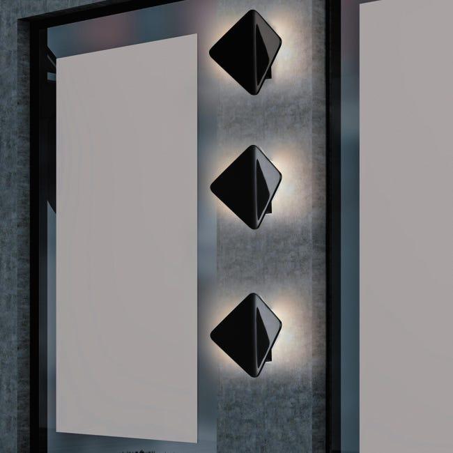 Applique Kite LED integrato in alluminio, nero, 40W 550LM IP54 INTEC - 1