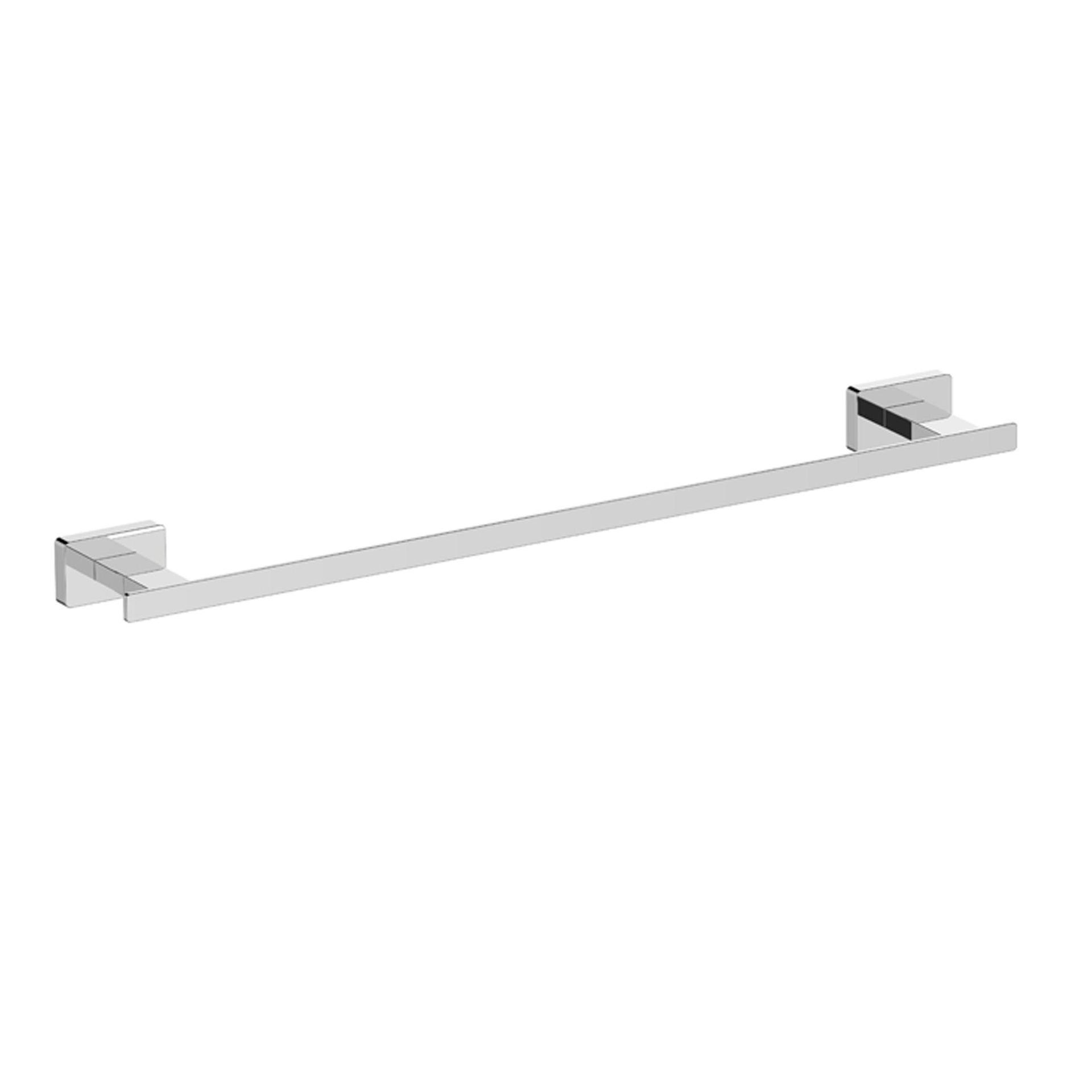 Porta salviette fisso a muro 1 barra cromo lucido L 56 cm - 1