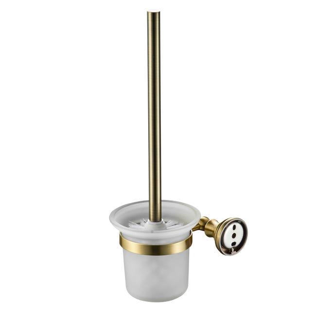 Porta scopino wc a muro in ottone oro - 1