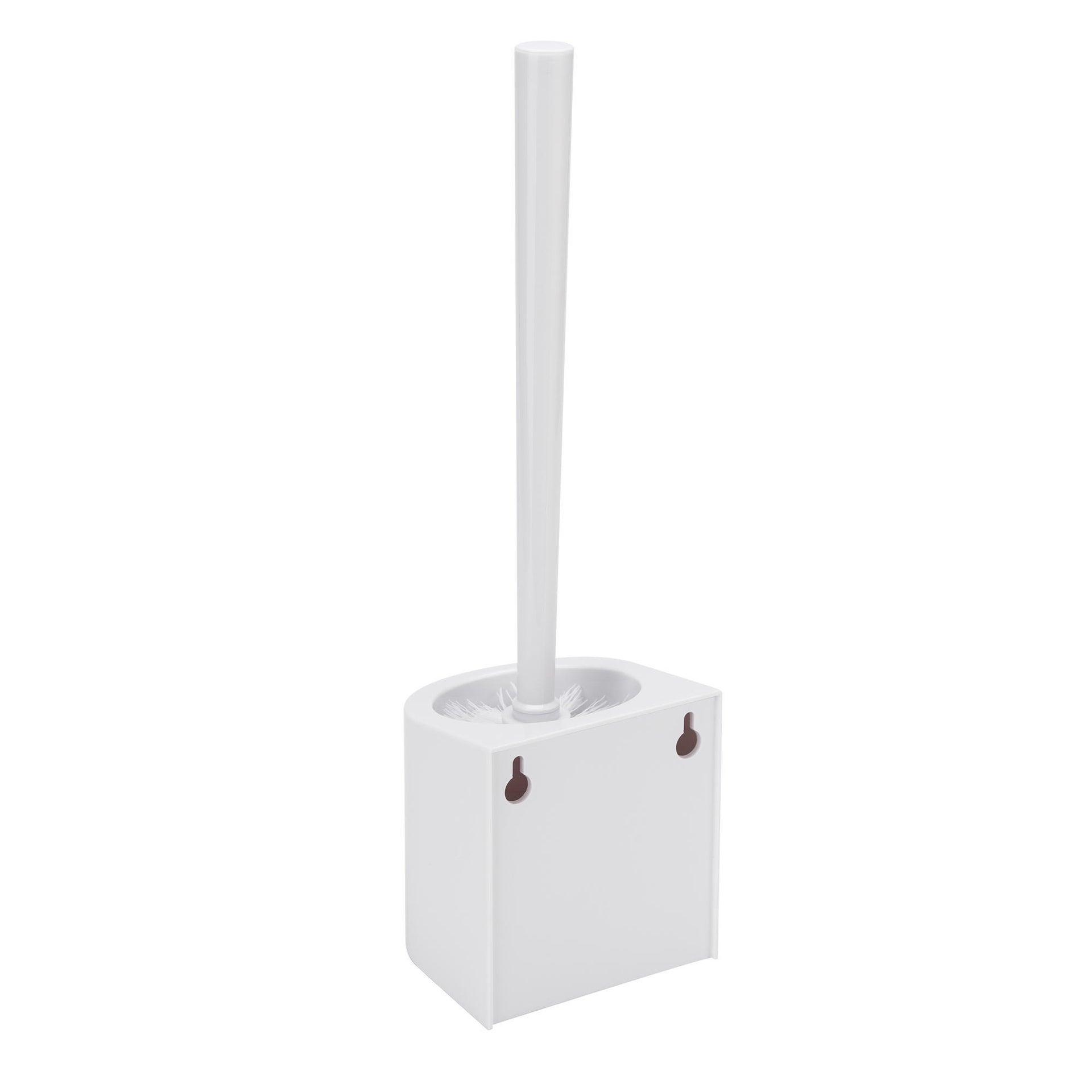 Porta scopino wc a muro in abs bianco - 2