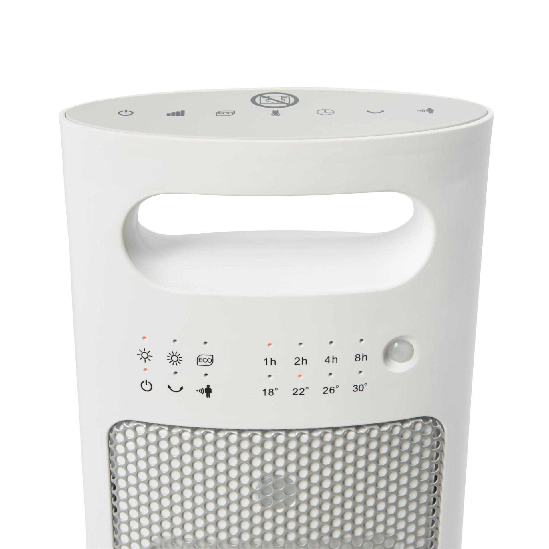 Termoventilatore elettrico EQUATION Presence bianco 2500 W - 10