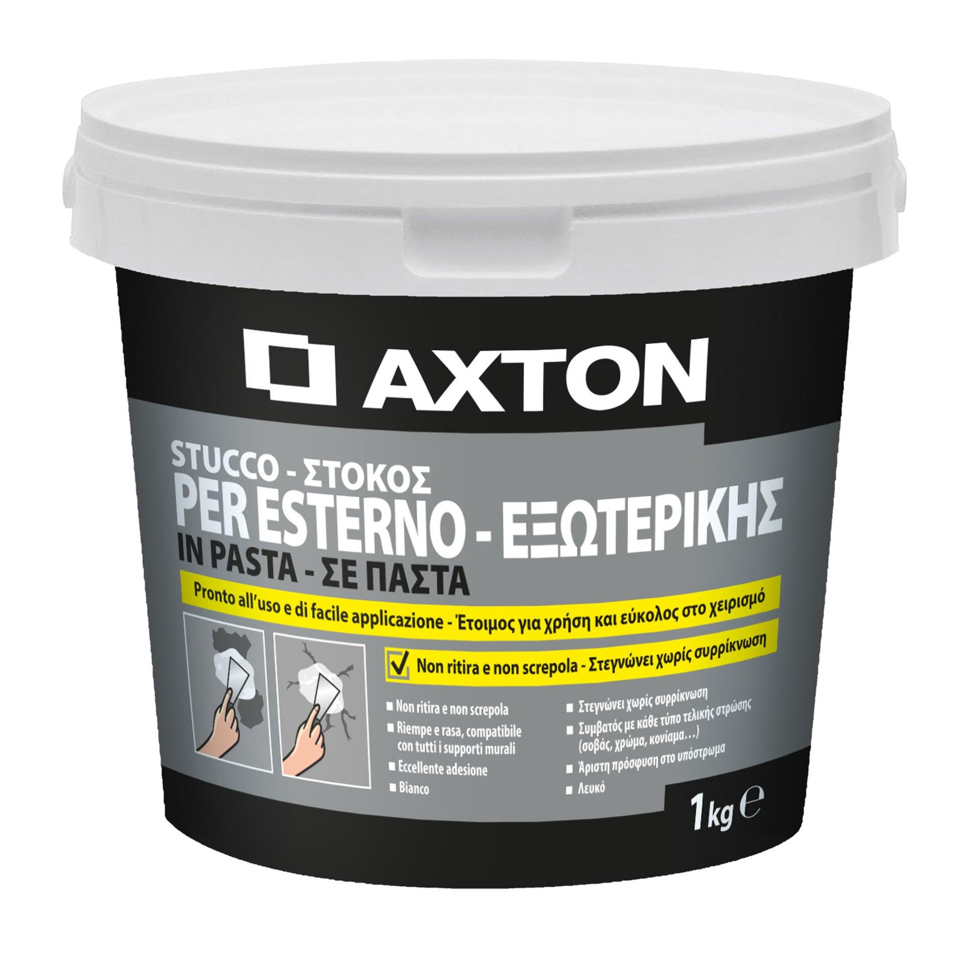 Stucco in pasta AXTON per esterno 1 kg bianco - 2