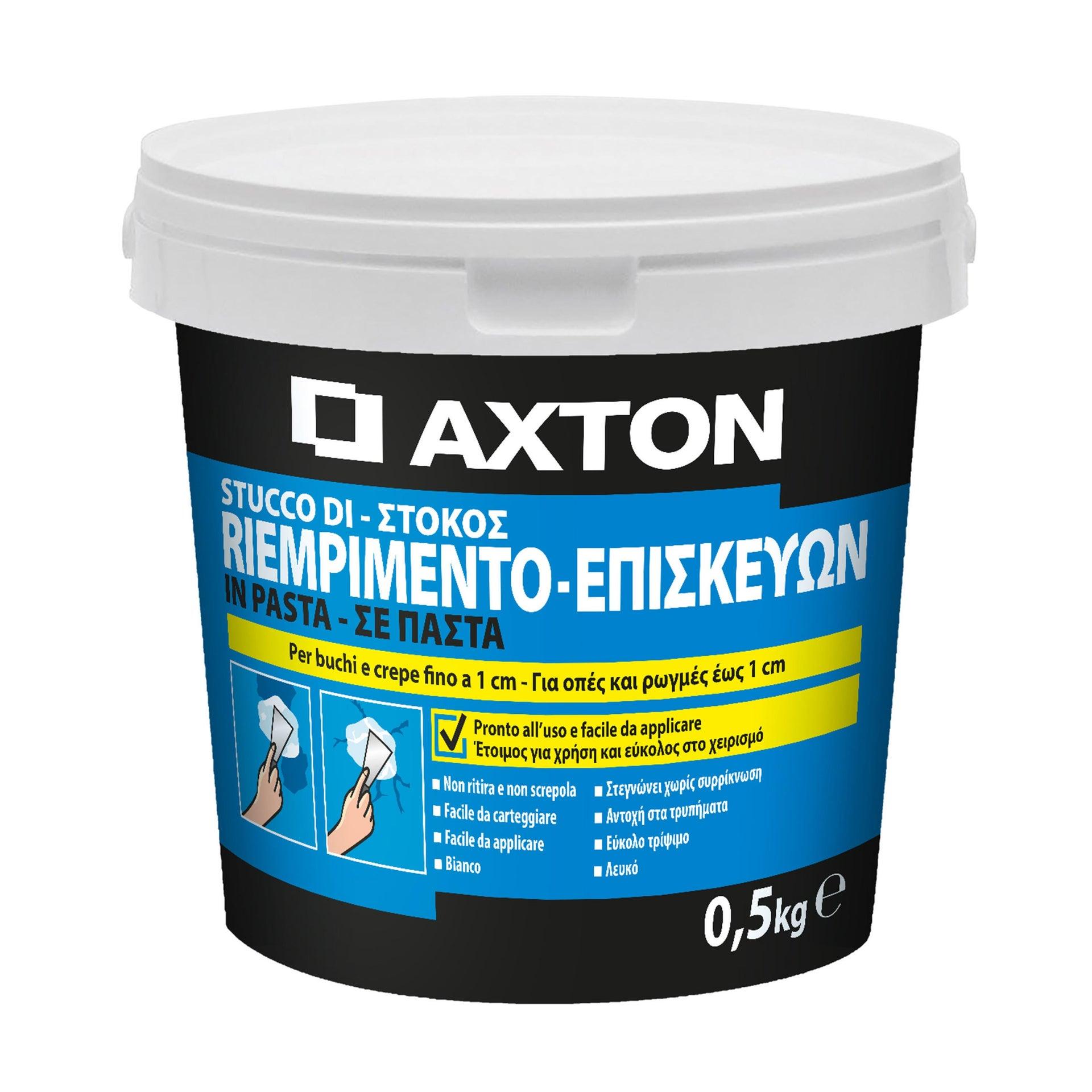 Stucco in pasta AXTON Riempitivo 500 g bianco - 2