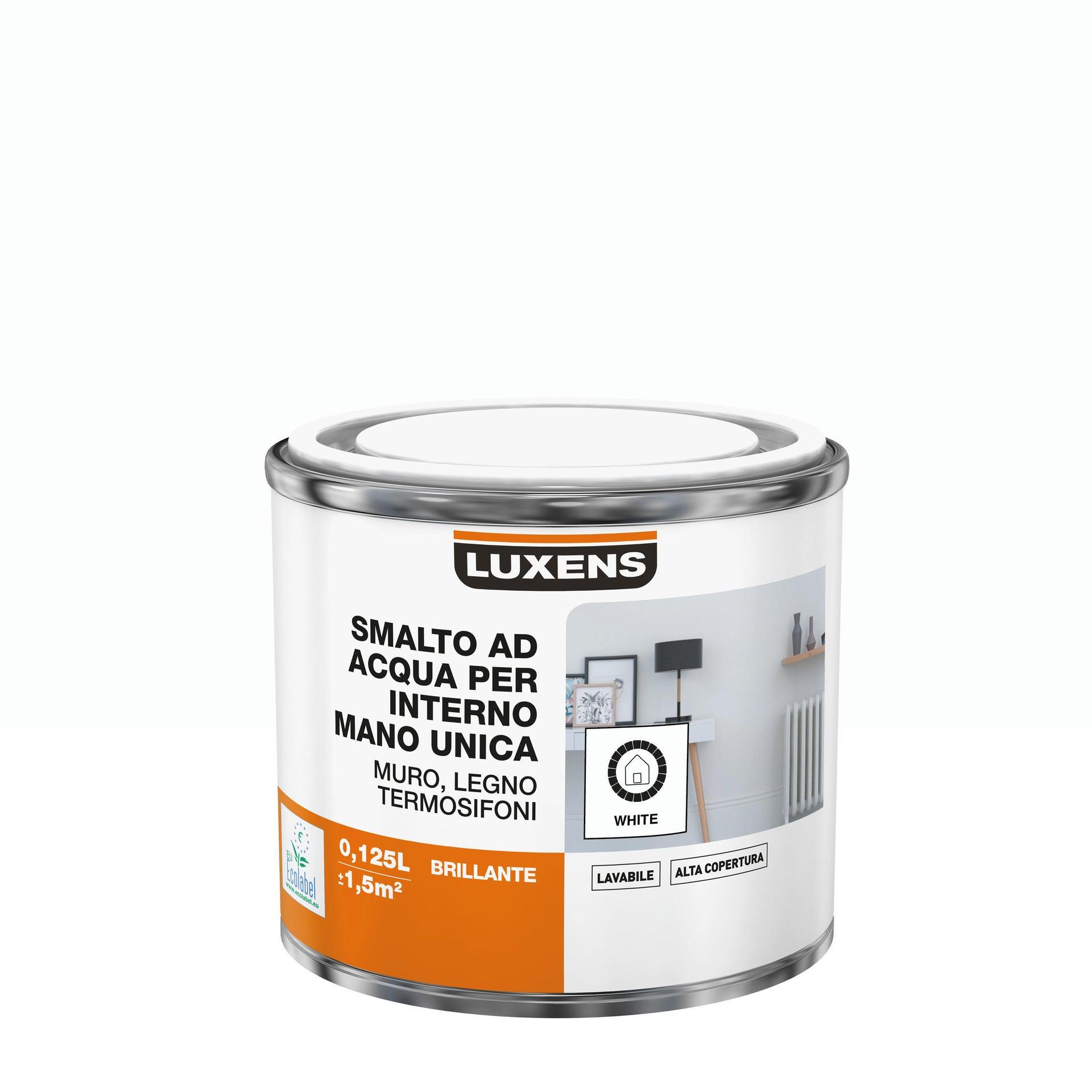 Vernice di finitura LUXENS Manounica base acqua bianco lucido 0.125 L - 3