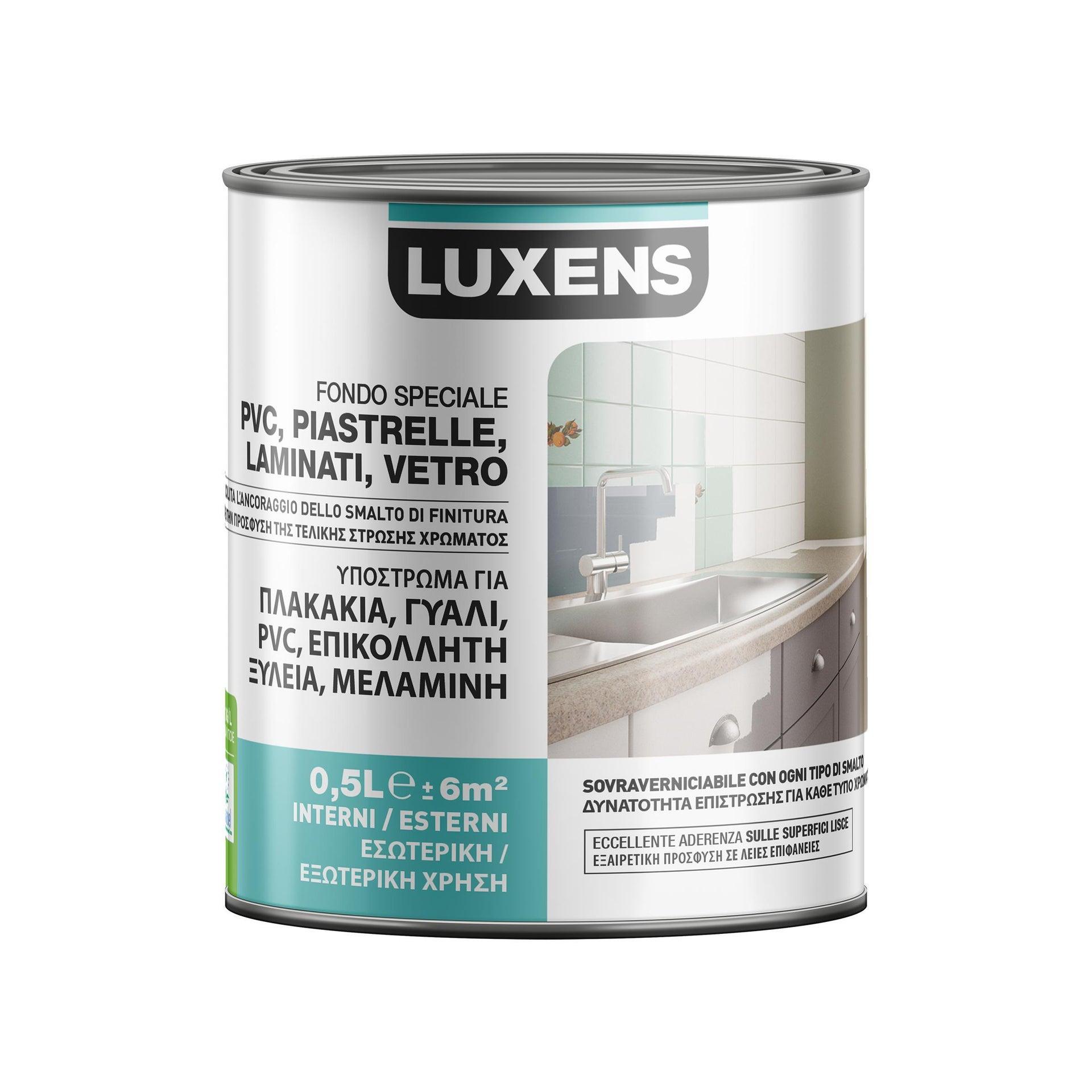 Primer precolorazione LUXENS base acqua interno / esterno per piastrelle, pvc, laminati, vetro 0.5 L - 3