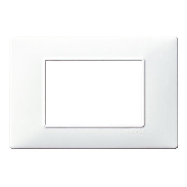Placca Plana VIMAR 3 moduli bianco - 1