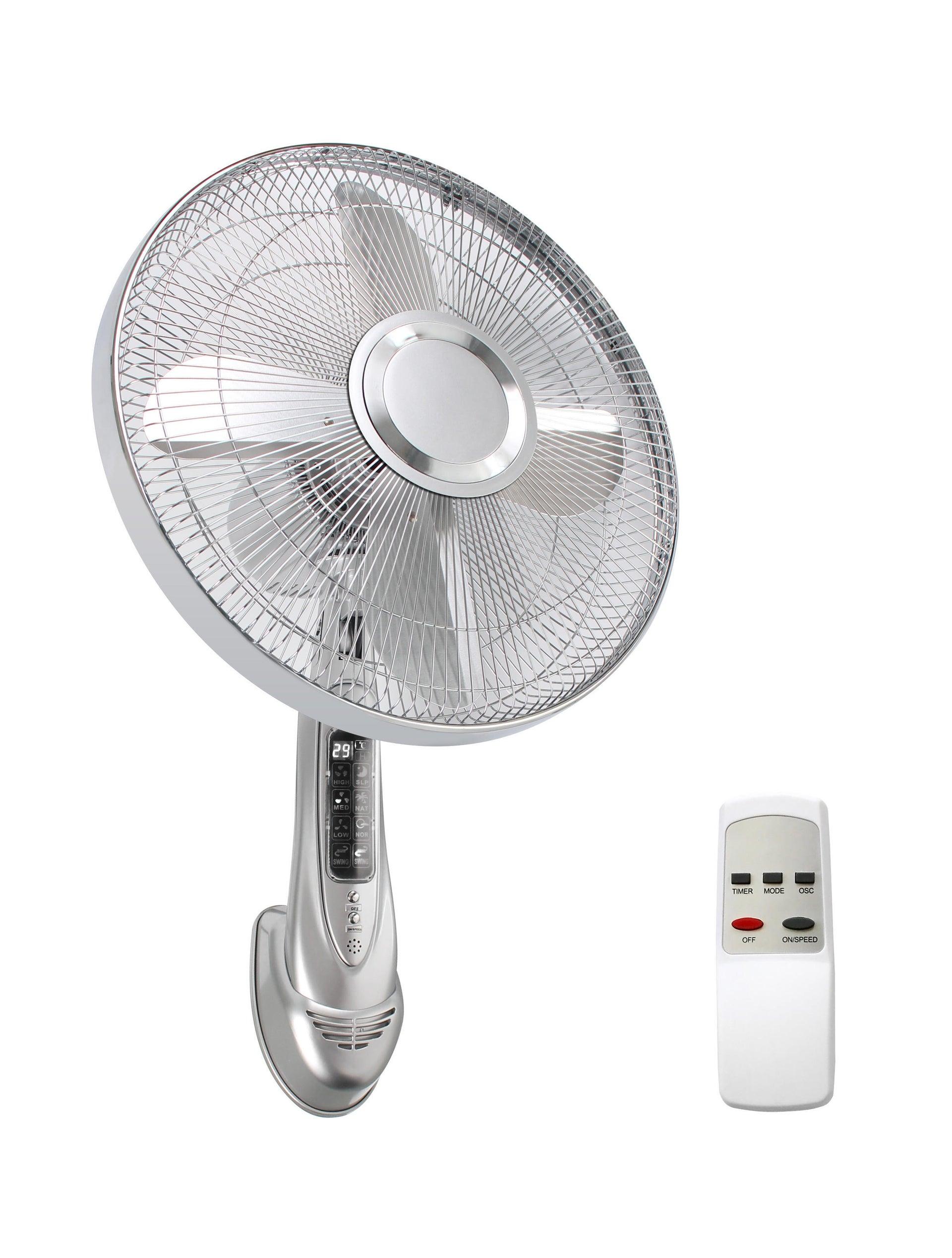 Ventilatore a parete EQUATION TX-1610R1 silver argento 55 W Ø 40 cm - 3