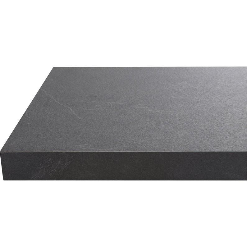 Piano cucina in laminato nero L 304 x P 63 cm, spessore 3.8 cm - 1