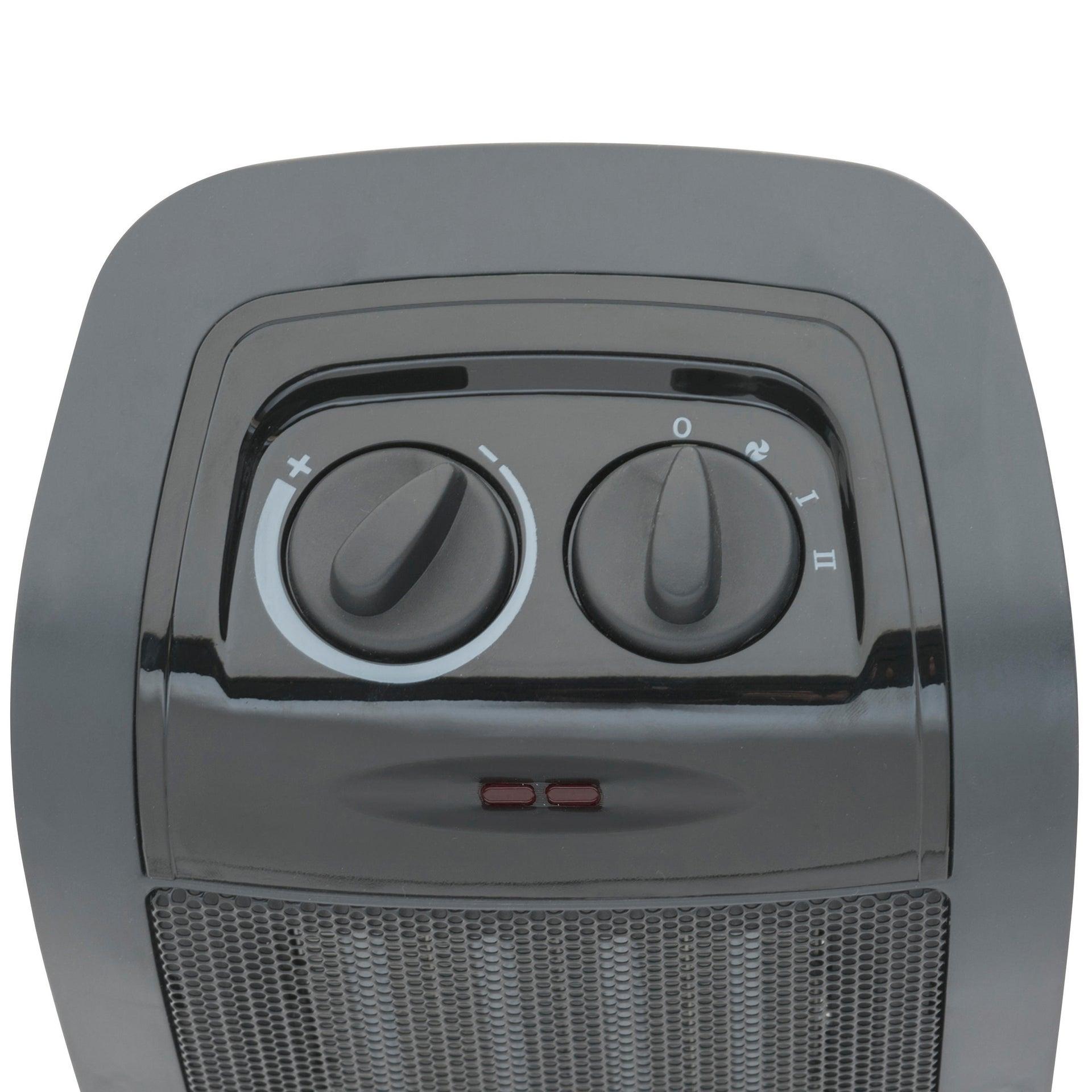 Termoventilatore elettrico EQUATION nero 1500 W - 2