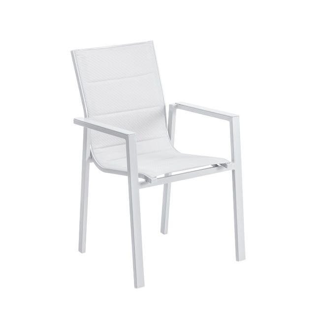 Set tavolo e sedie Odyssea in alluminio grigio / argento 8 posti - 1